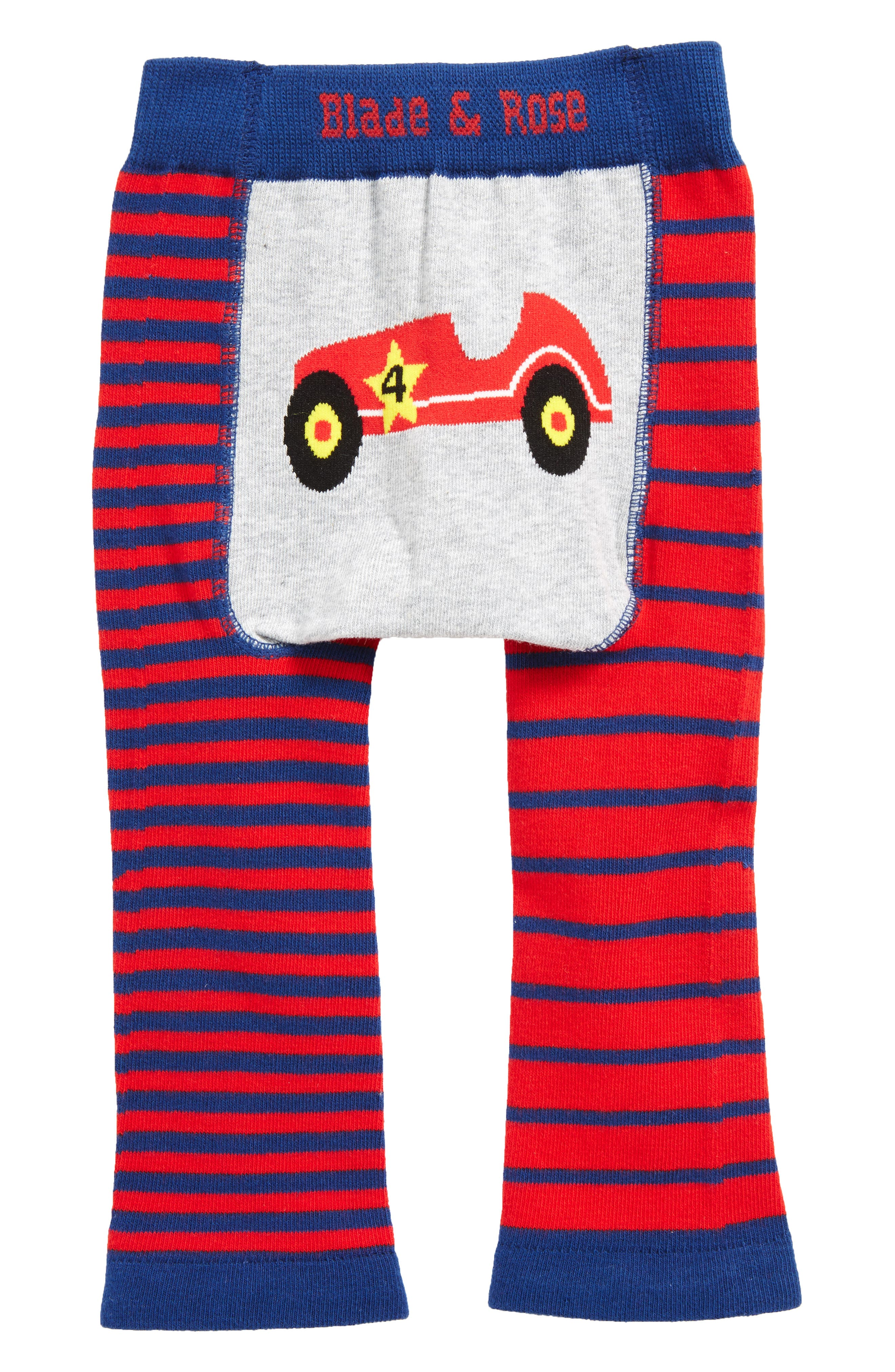 Classic Car Leggings,                         Main,                         color, Red/ Navy Blue