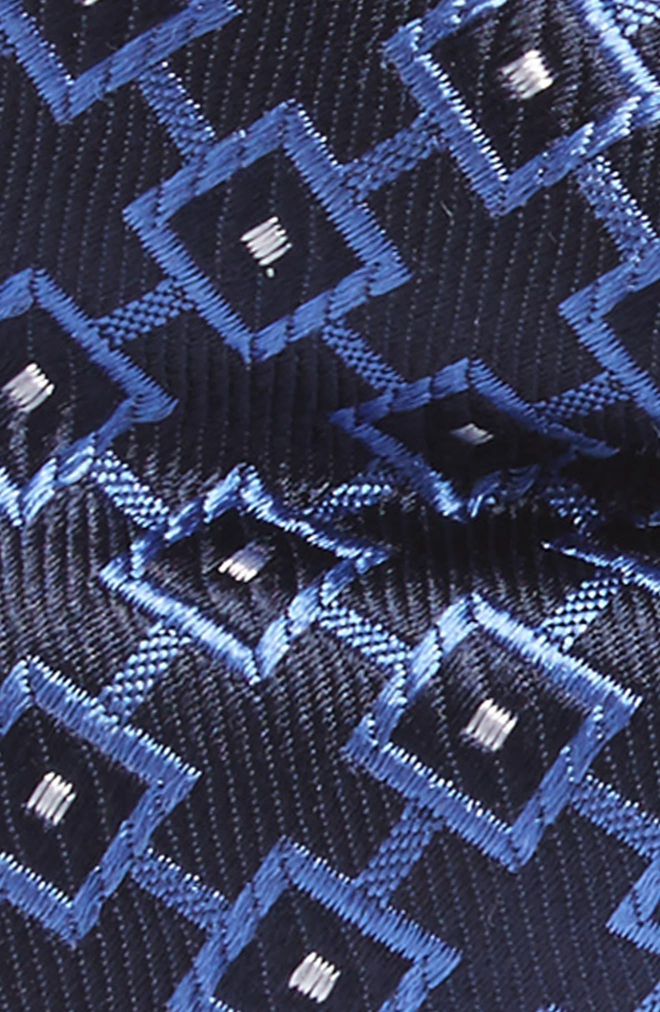 Medallion Silk Bow Tie,                             Alternate thumbnail 2, color,                             Blue