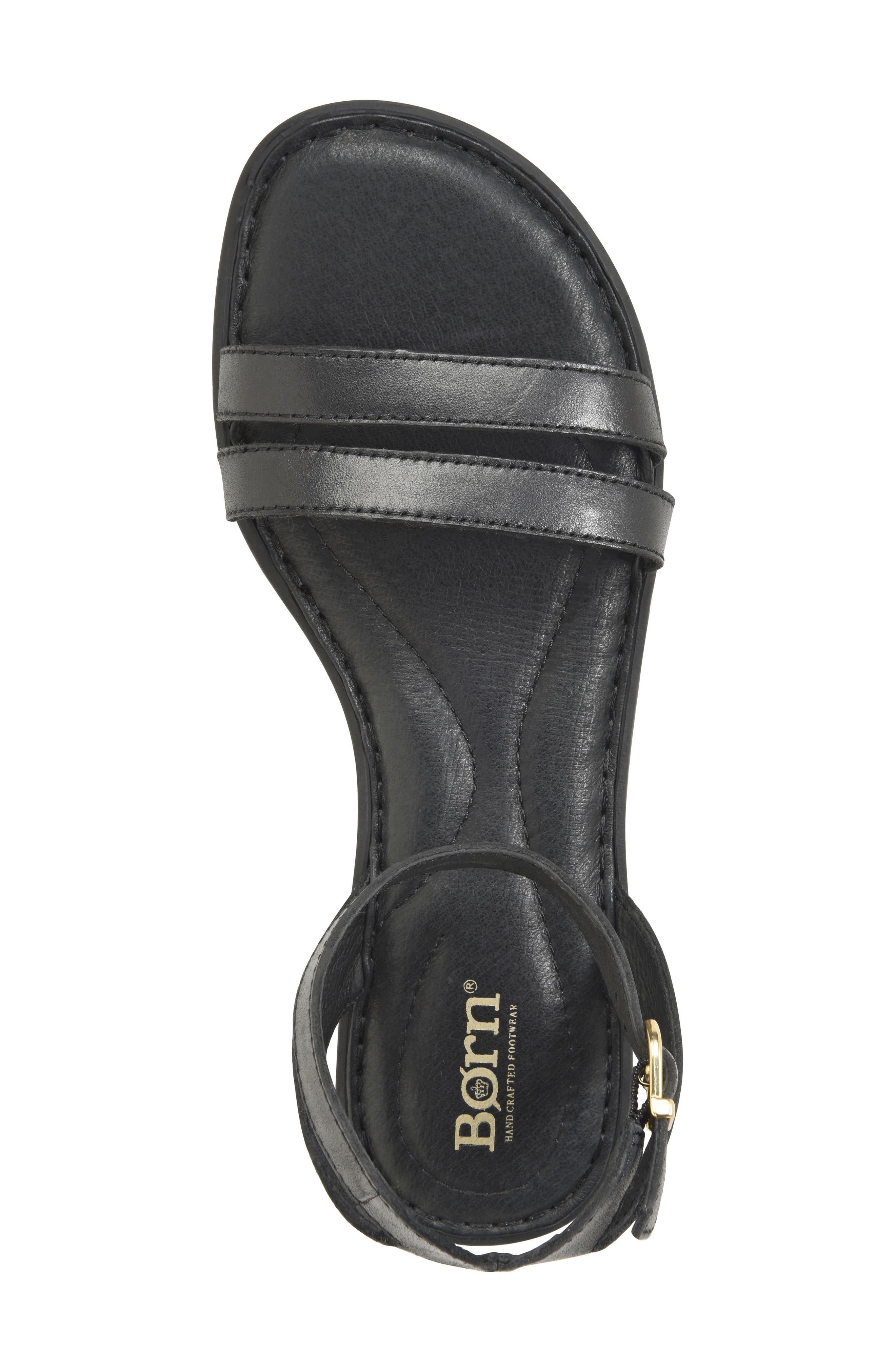 Mai Easy Sandal,                             Alternate thumbnail 5, color,                             Black Leather