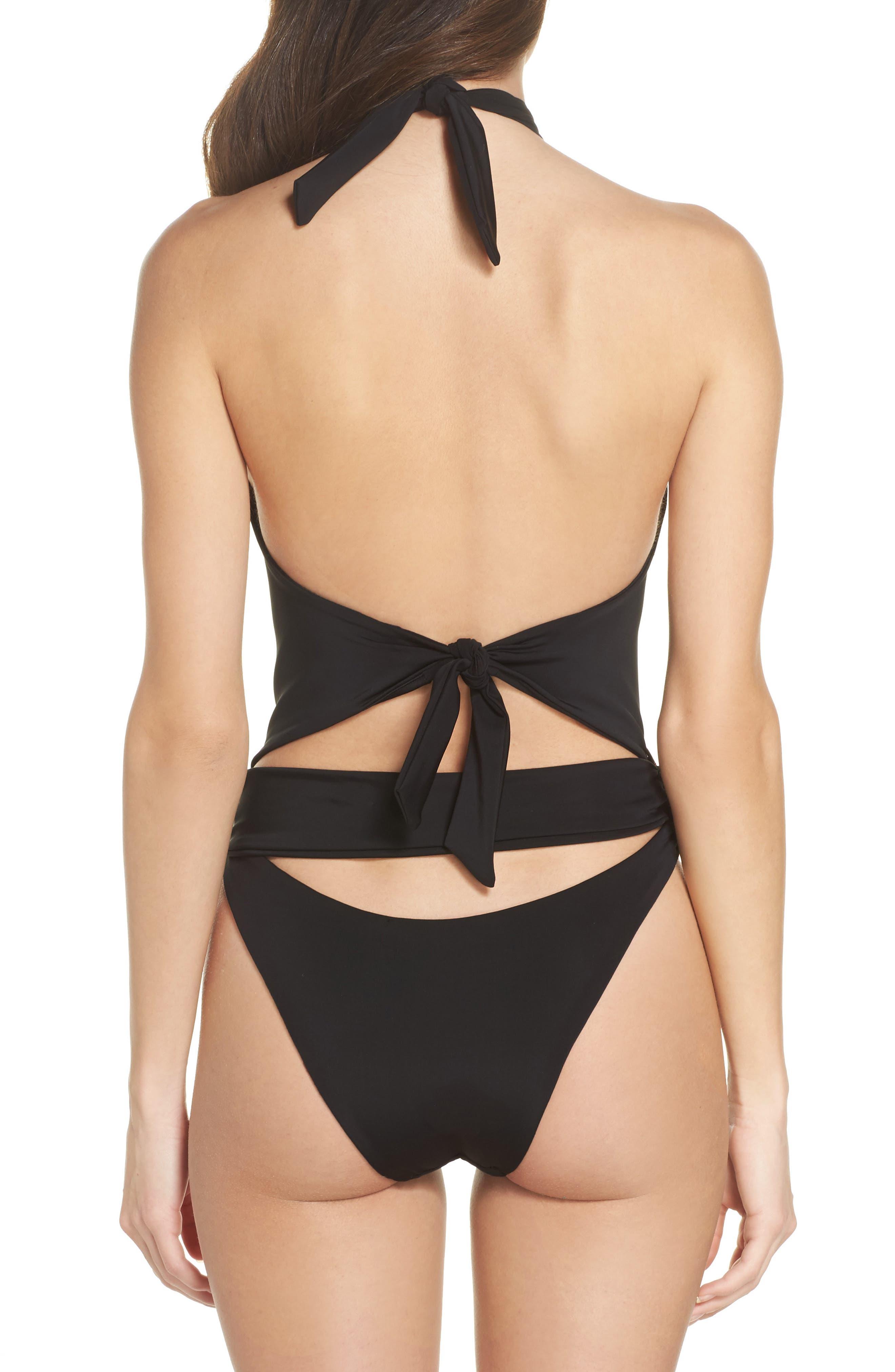 Havana One-Piece Swimsuit,                             Alternate thumbnail 2, color,                             Black