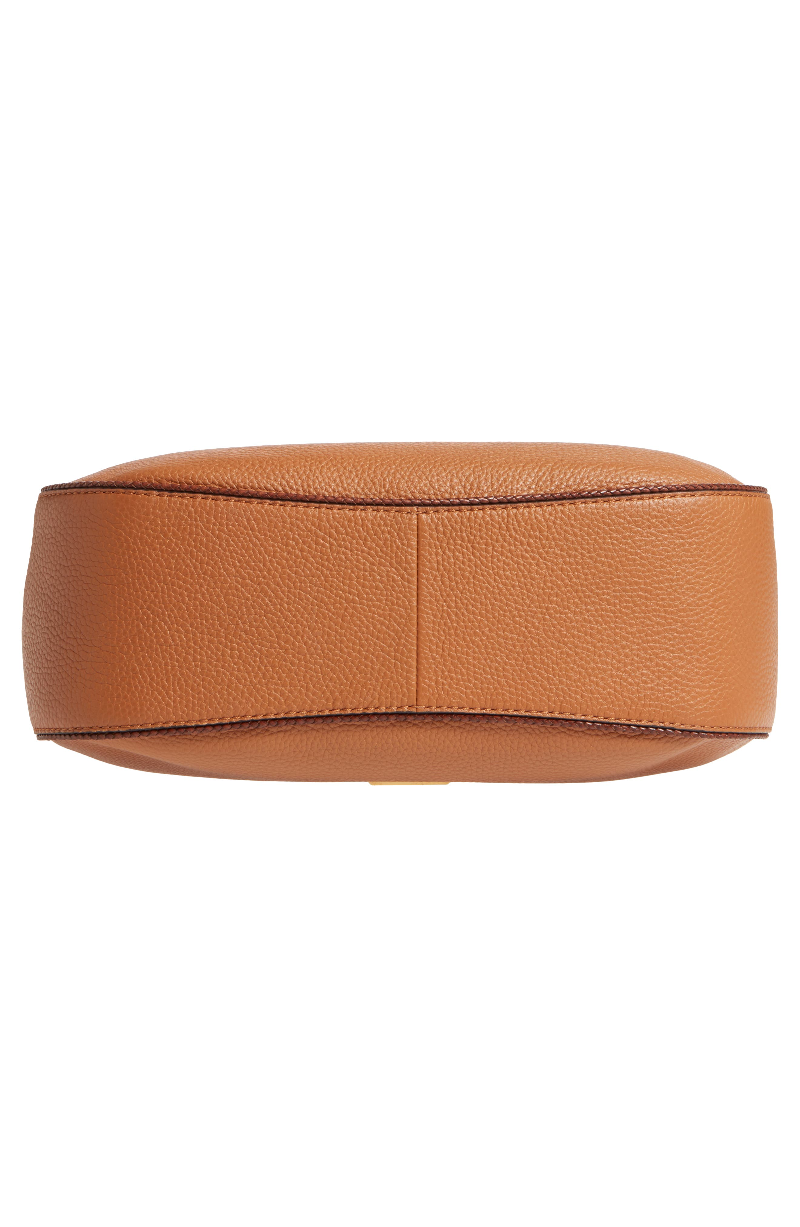 Skorpios Leather Hobo,                             Alternate thumbnail 5, color,                             Acorn