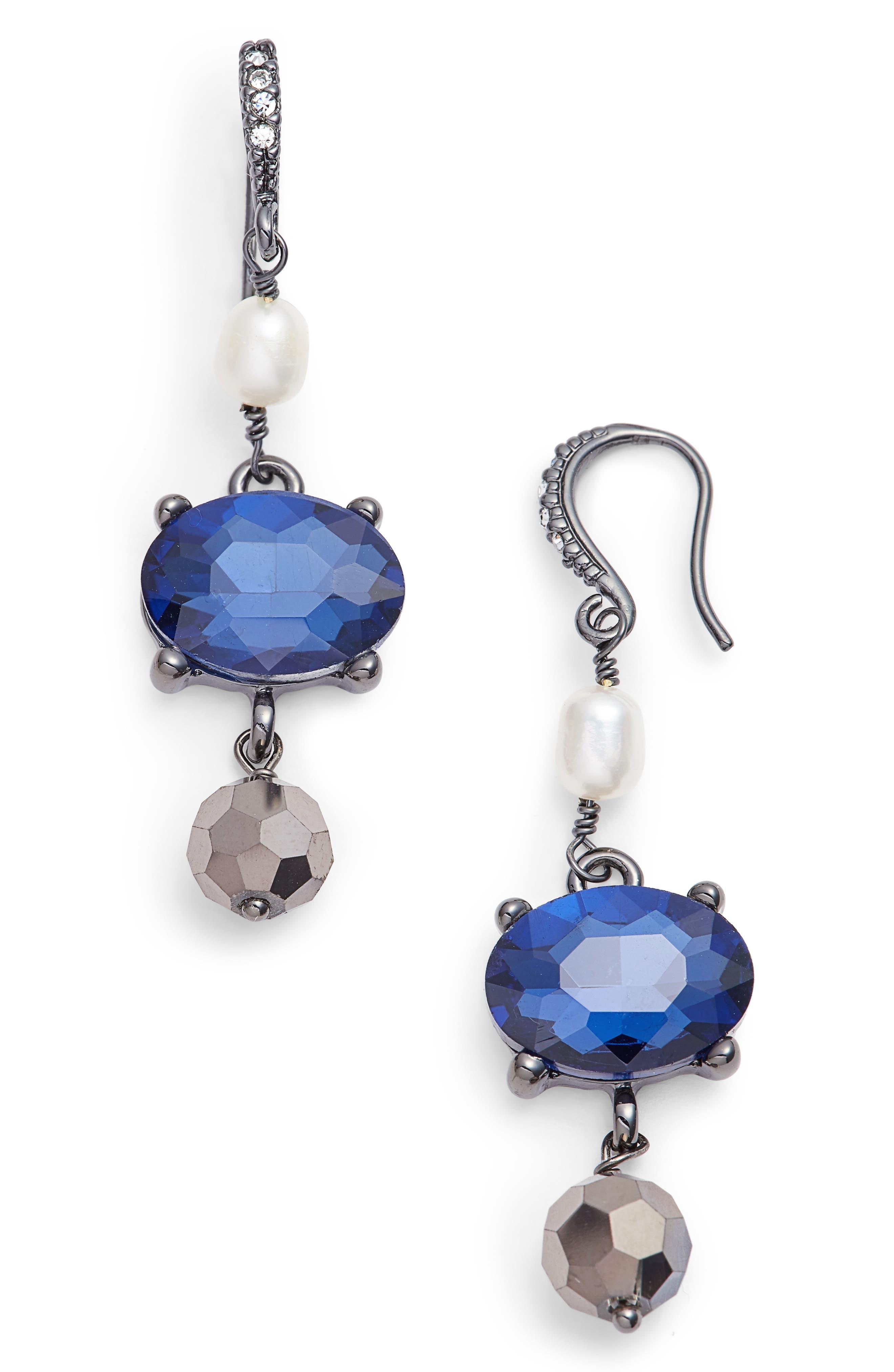 Alternate Image 1 Selected - Badgley Mischka Pearl Drop Earrings