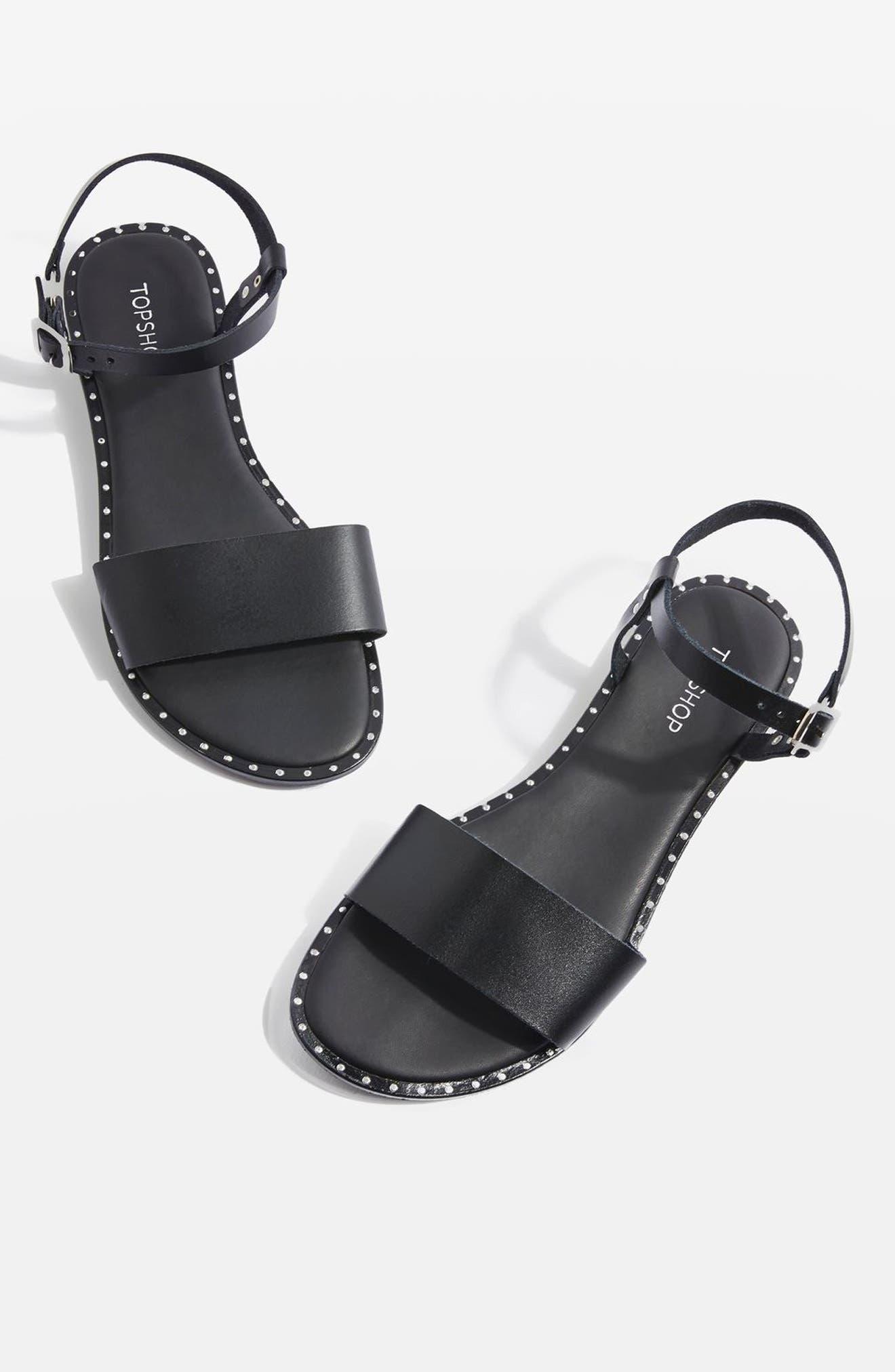 Holland Sandal,                             Main thumbnail 1, color,                             Black