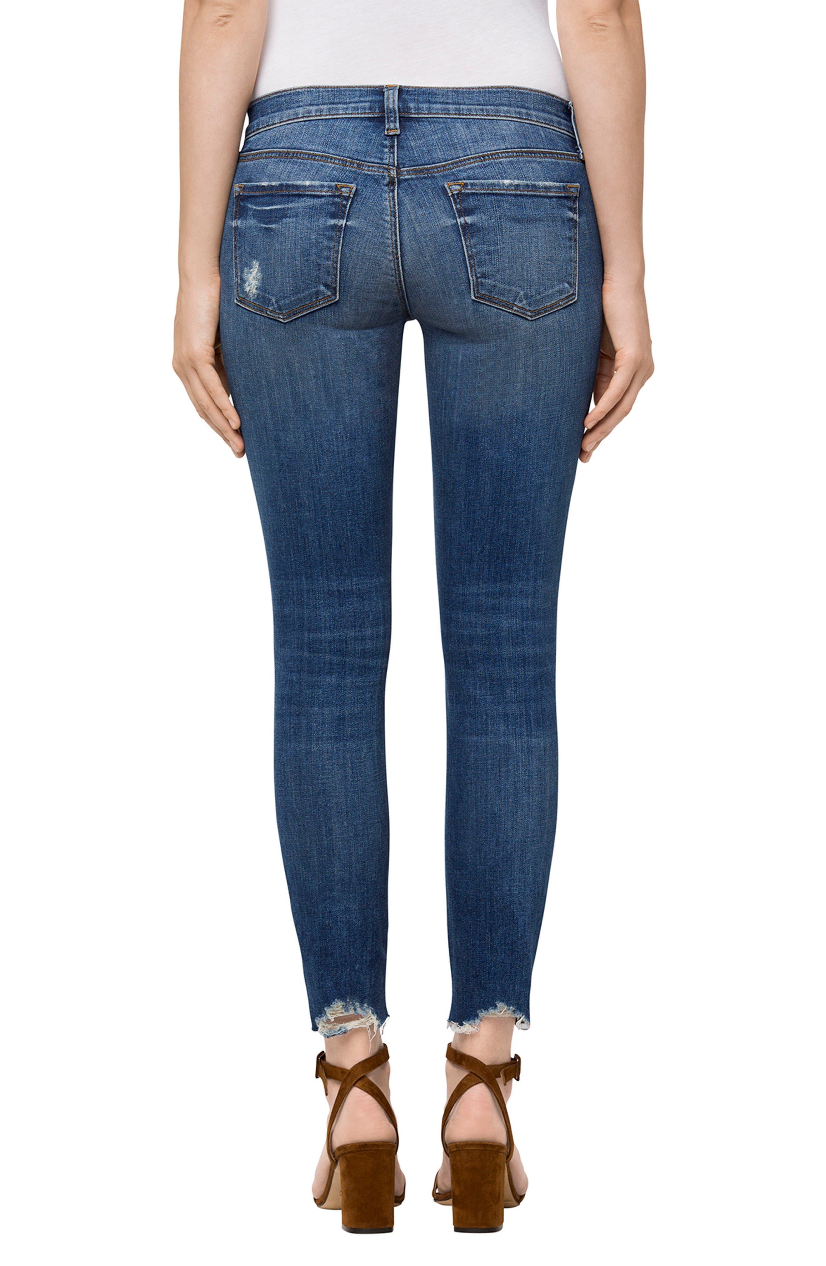 Alternate Image 2  - J Brand 9326 Low Rise Crop Skinny Jeans (Revoke Destruct)