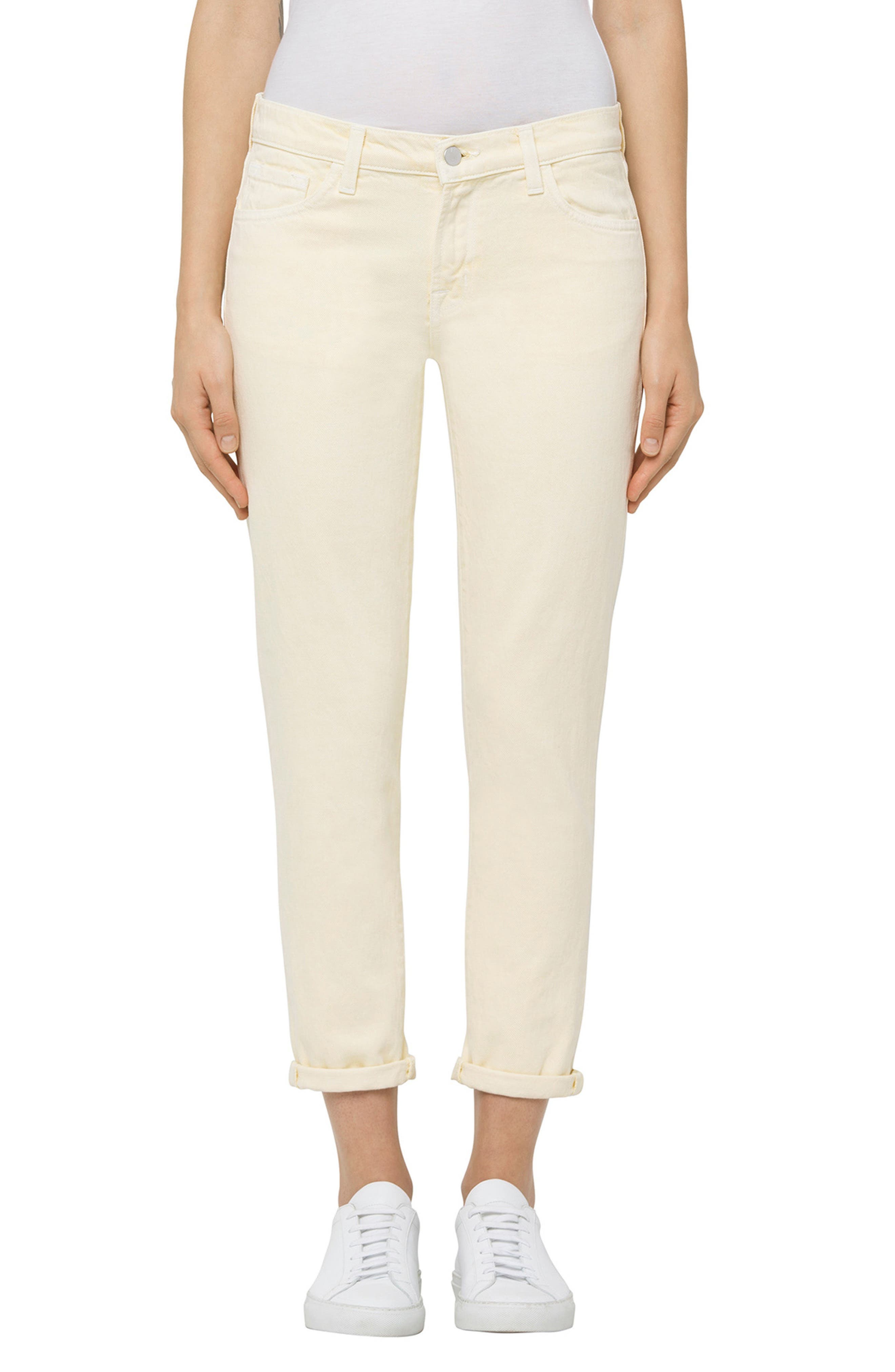 Sadey Ankle Slim Straight Leg Jeans,                         Main,                         color, Butter