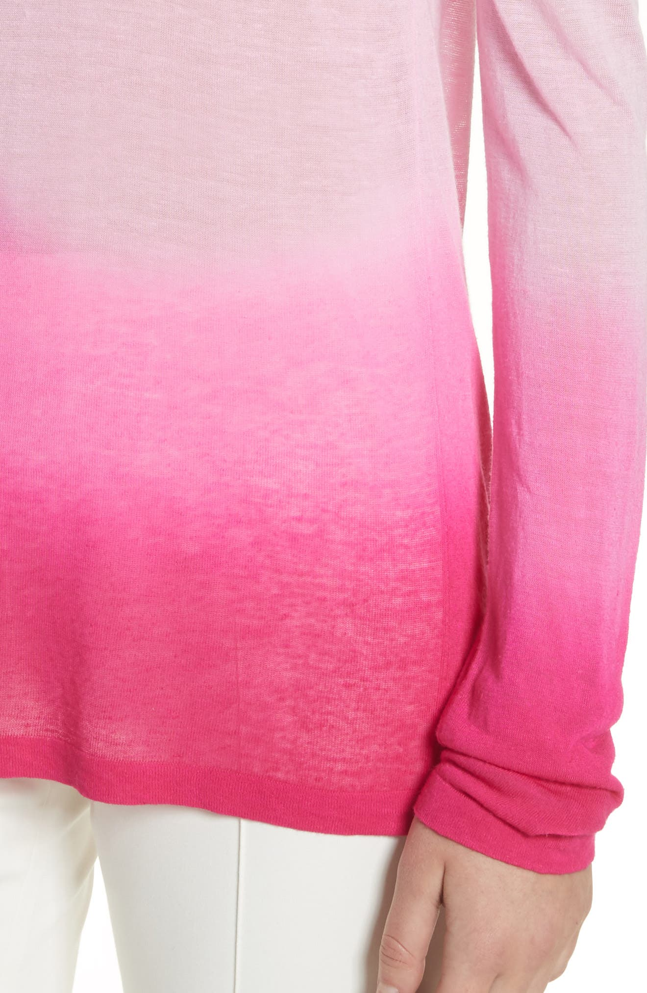 Ombré Sweater,                             Alternate thumbnail 4, color,                             Rosewater