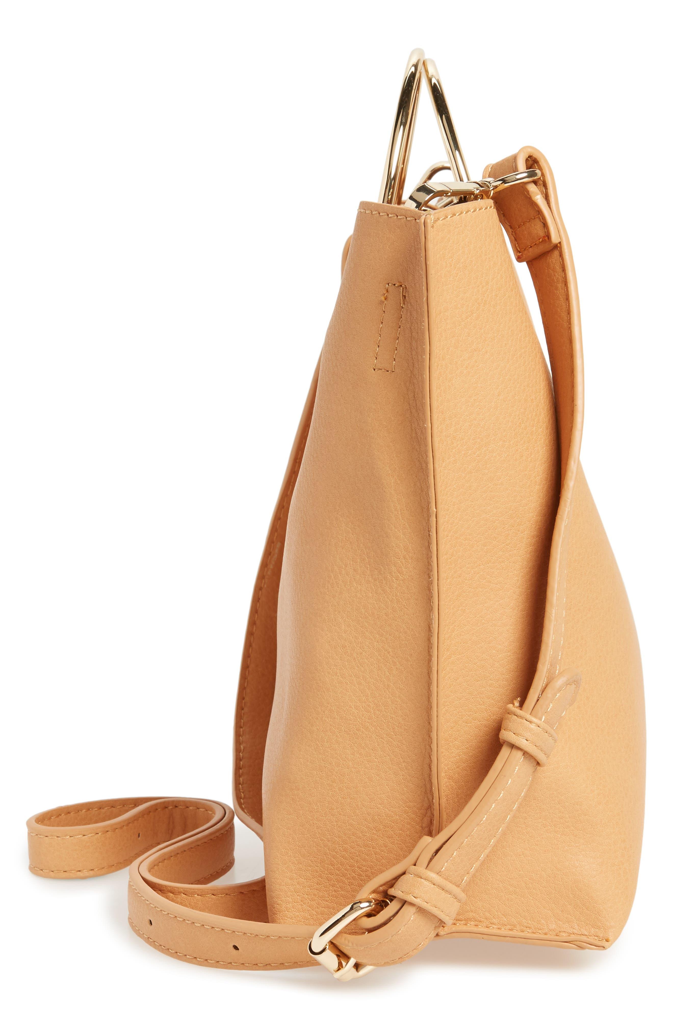 Alternate Image 4  - BP. Metal Handle Faux Leather Crossbody Bag