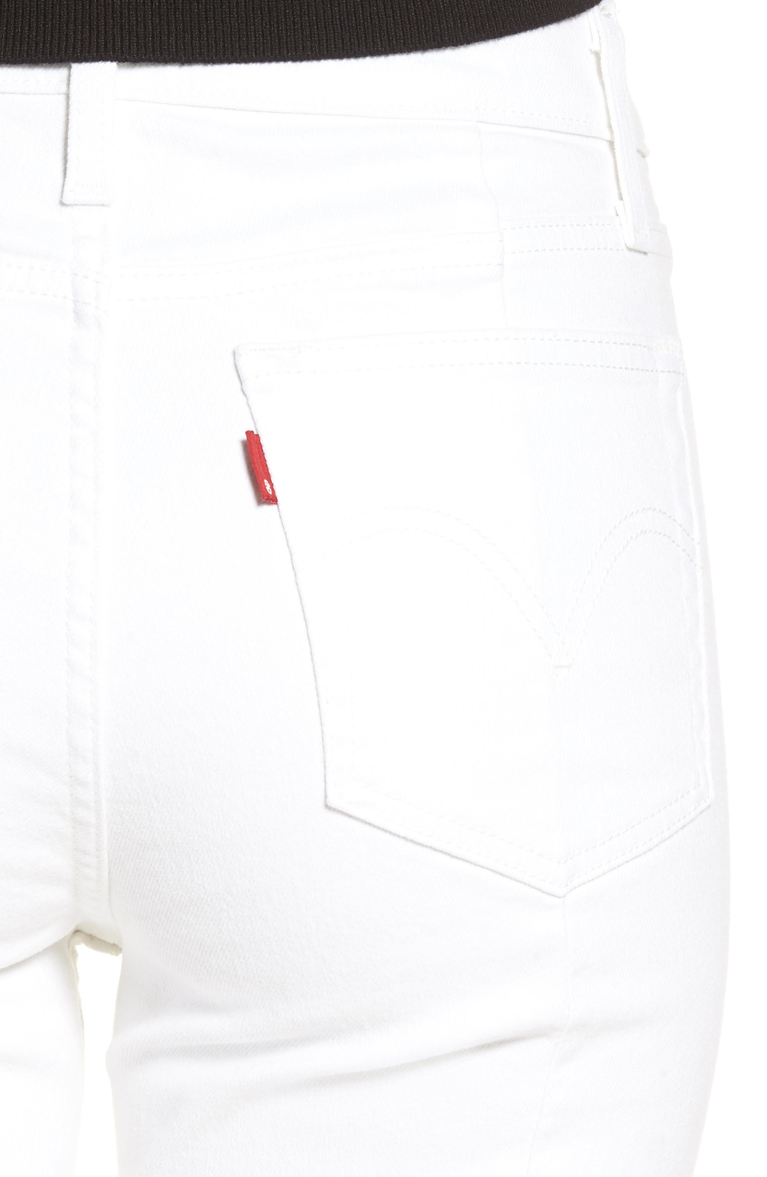 721<sup>™</sup> Altered High Rise Ankle Skinny Jeans,                             Alternate thumbnail 4, color,                             Seeing White