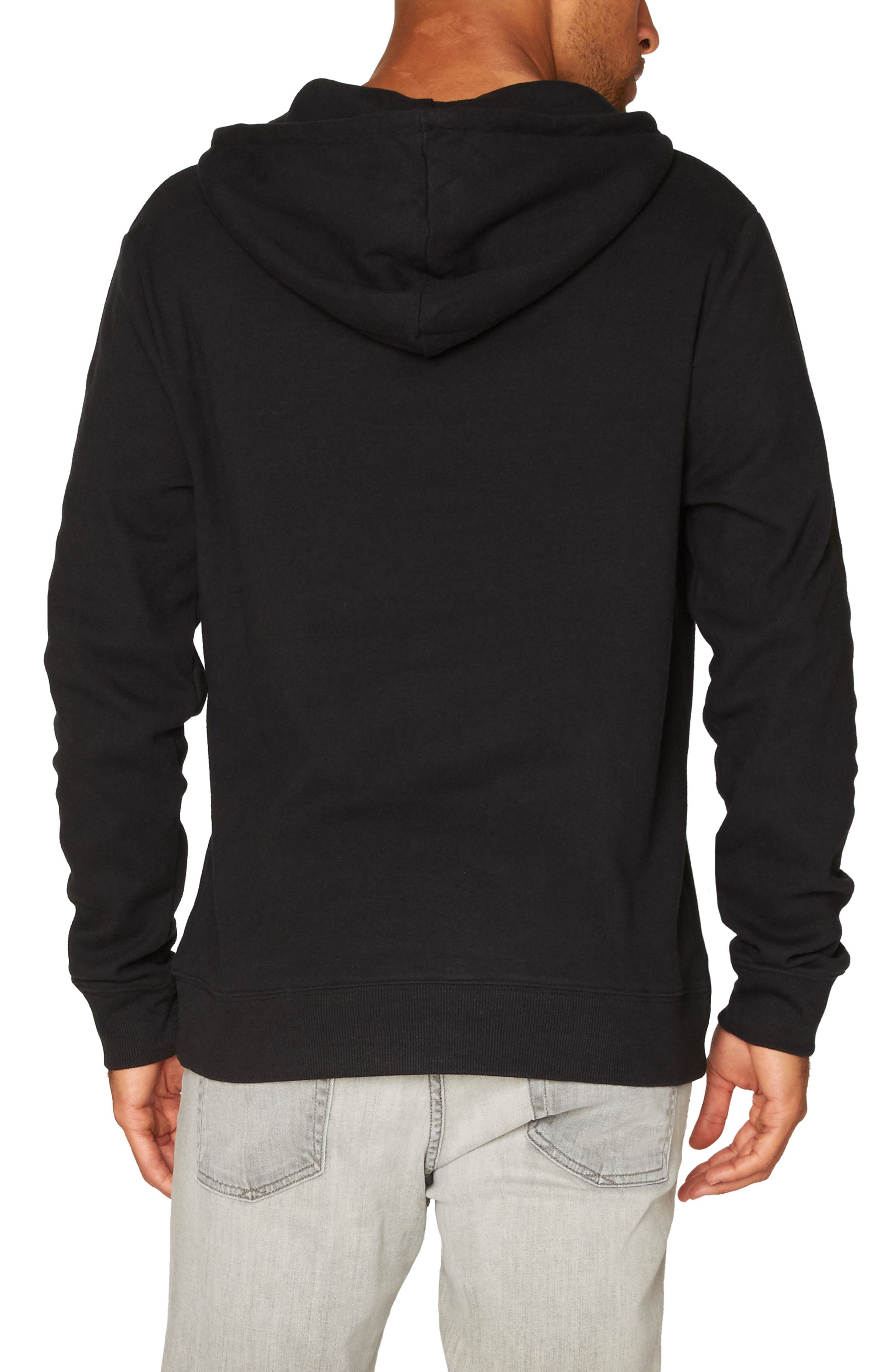 Vance Fleece Hoodie,                             Alternate thumbnail 2, color,                             Black