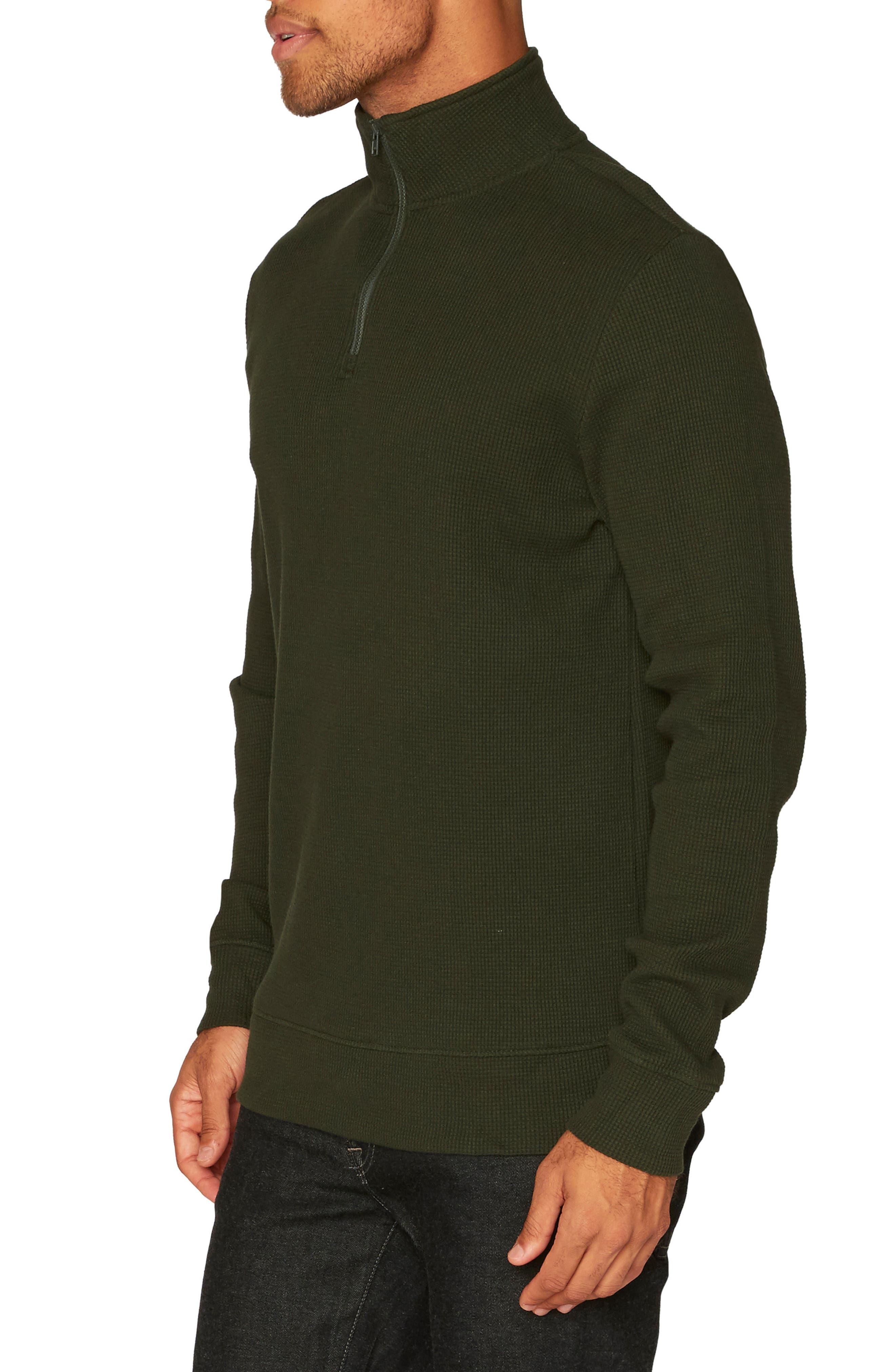 Chad Half Zip Thermal Pullover,                             Alternate thumbnail 3, color,                             Rosin
