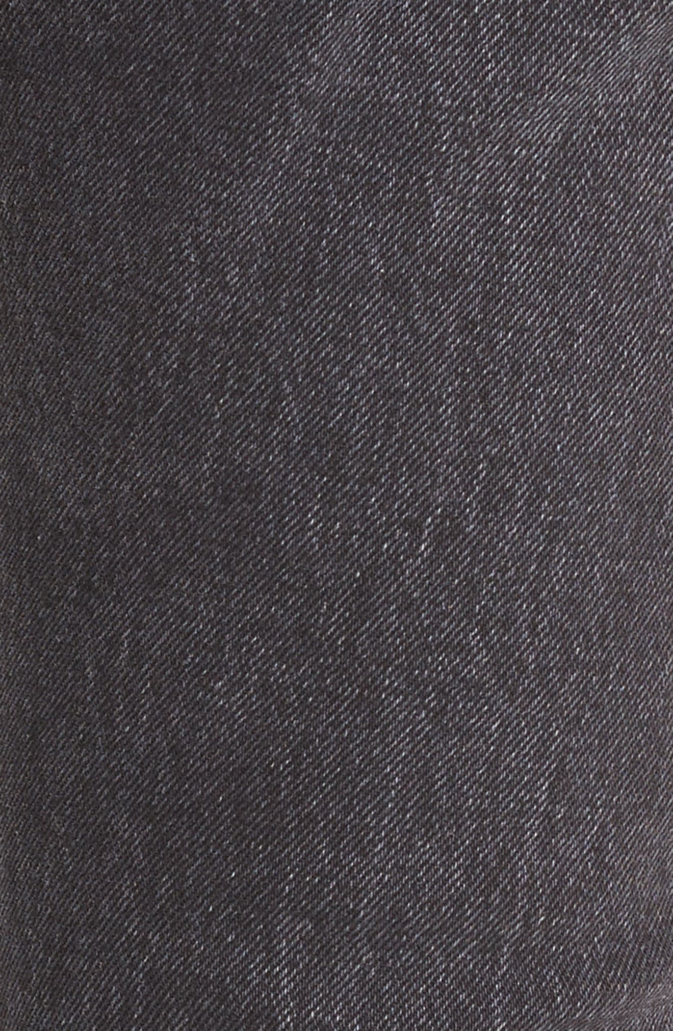 501<sup>®</sup> High Waist Ripped Skinny Jeans,                             Alternate thumbnail 6, color,                             Well Worn Black