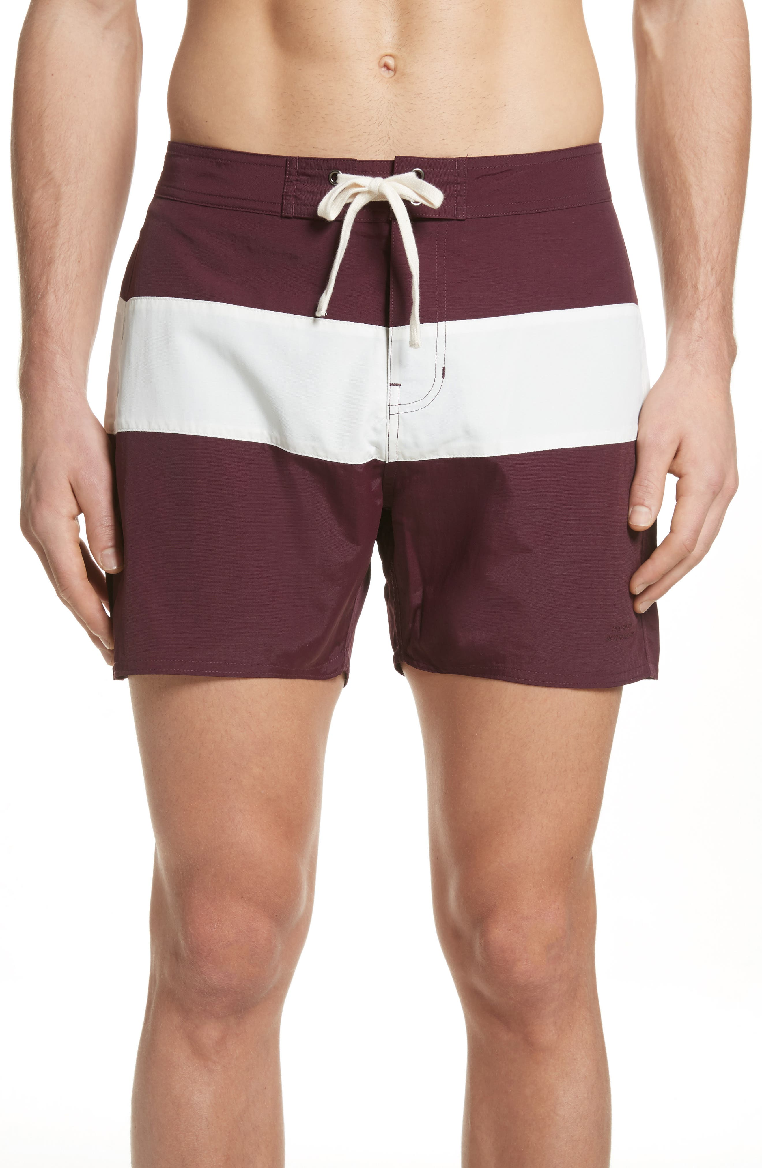 Grant Board Shorts,                         Main,                         color, Dark Mauve/Ivory