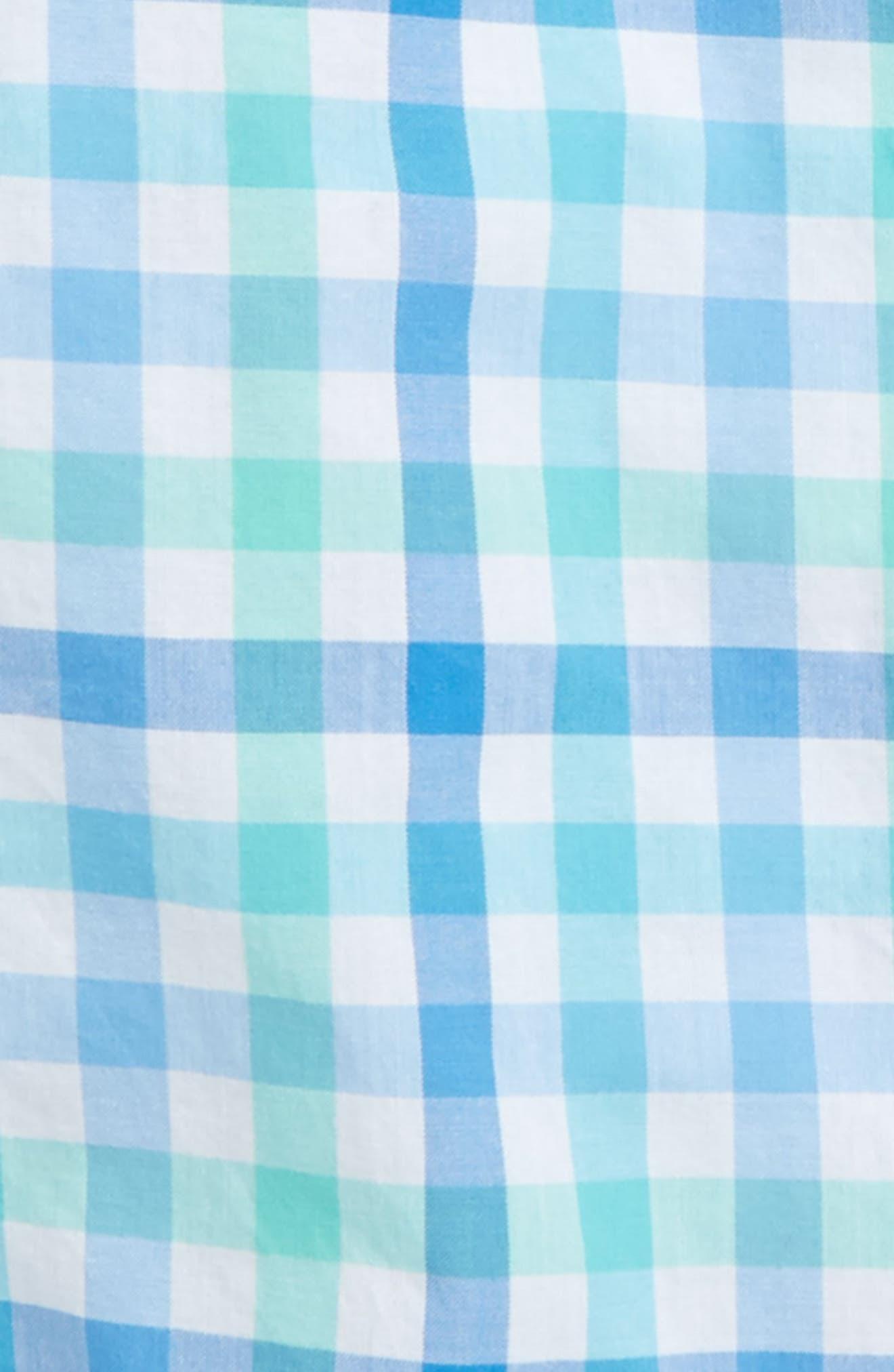 Eagle's Nest Gingham Dress Shirt,                             Alternate thumbnail 2, color,                             Turqs