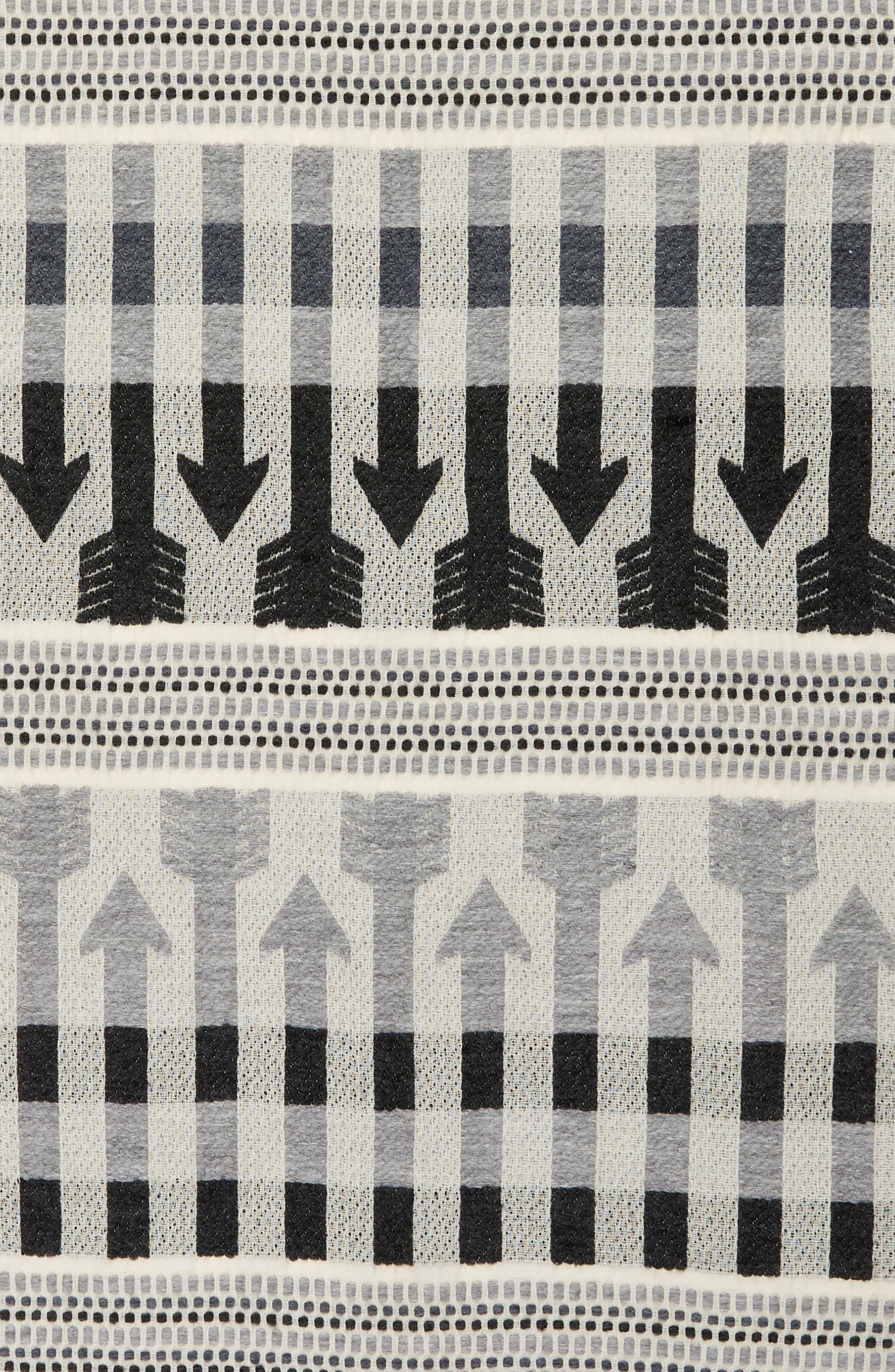 Aro Jacquard Scarf,                             Alternate thumbnail 4, color,                             Grey