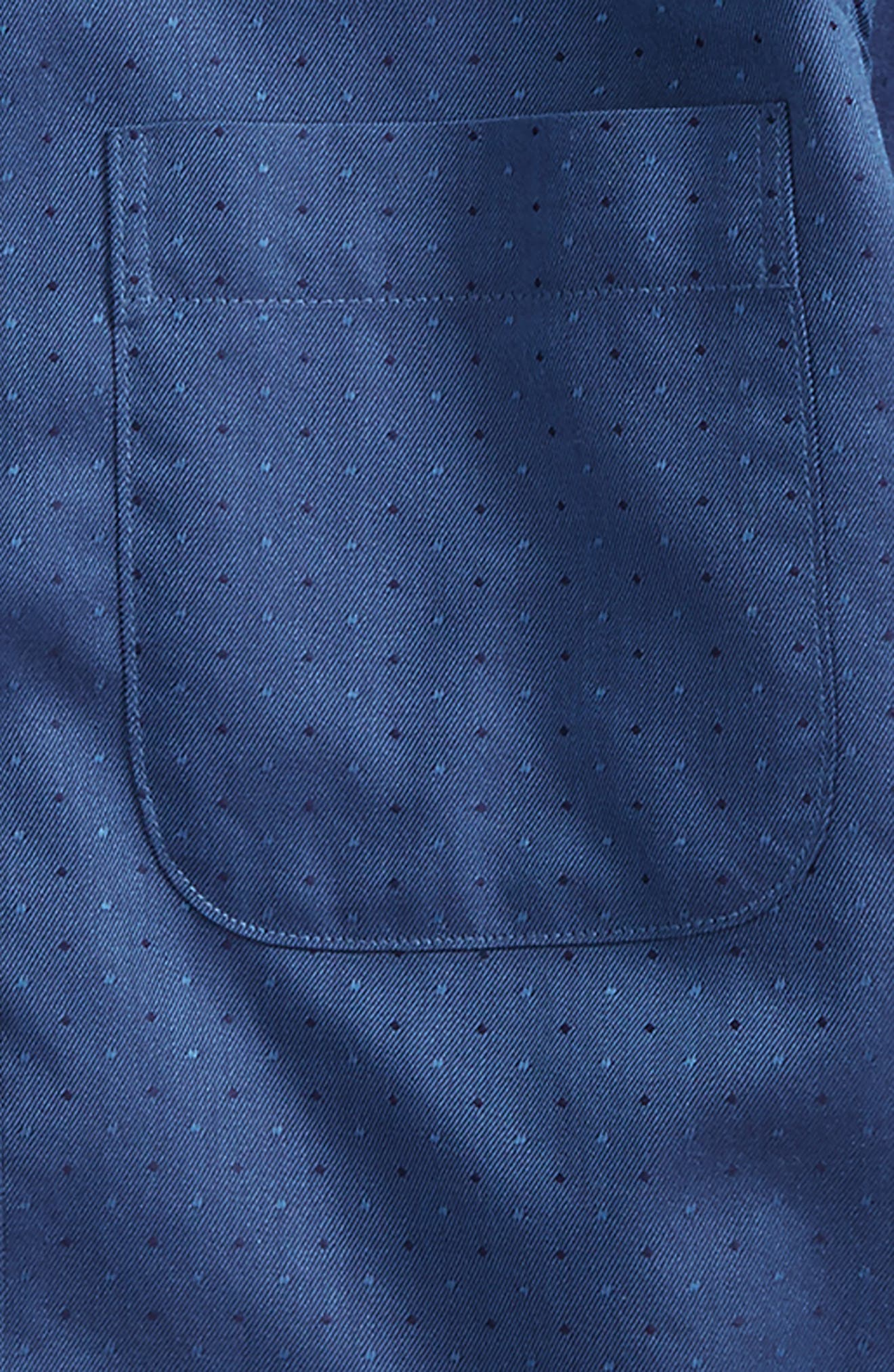 Dot Jacquard Sport Shirt,                             Alternate thumbnail 2, color,                             Navy Denim Neat Dot