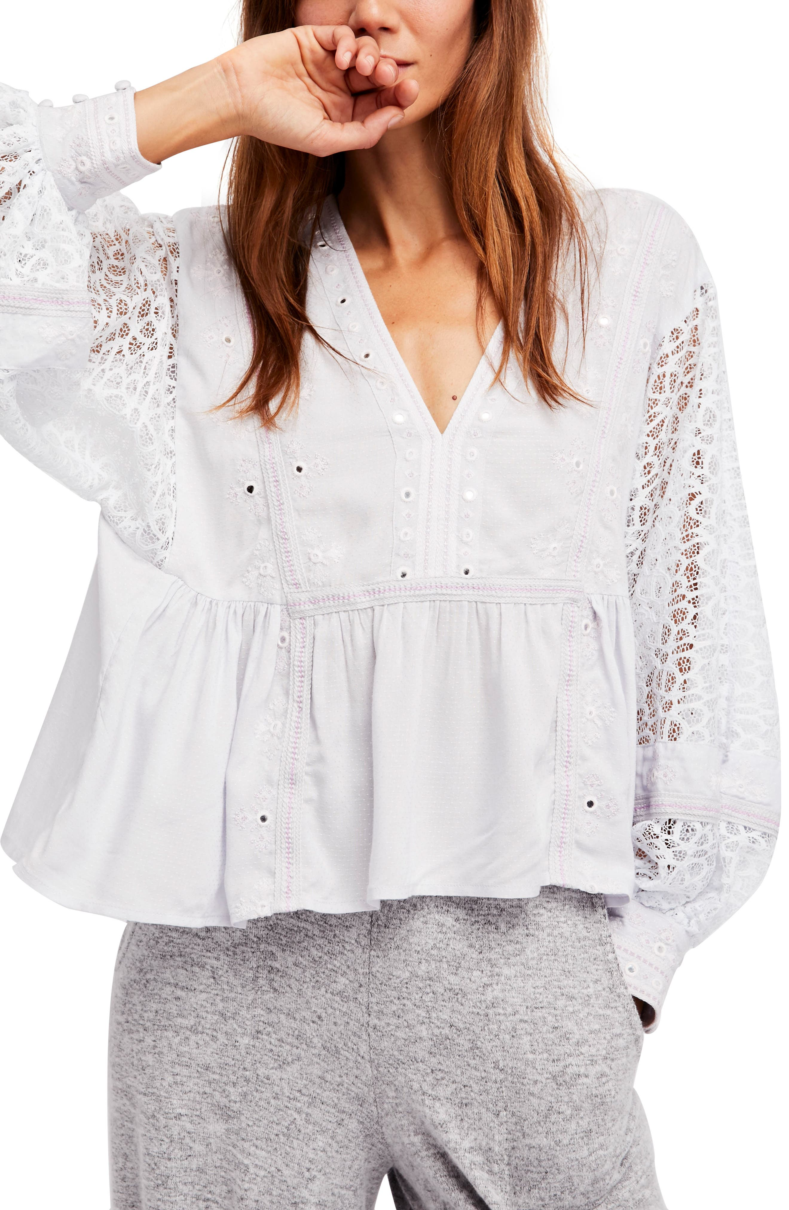 Main Image - Free People Boogie All Night Blouse
