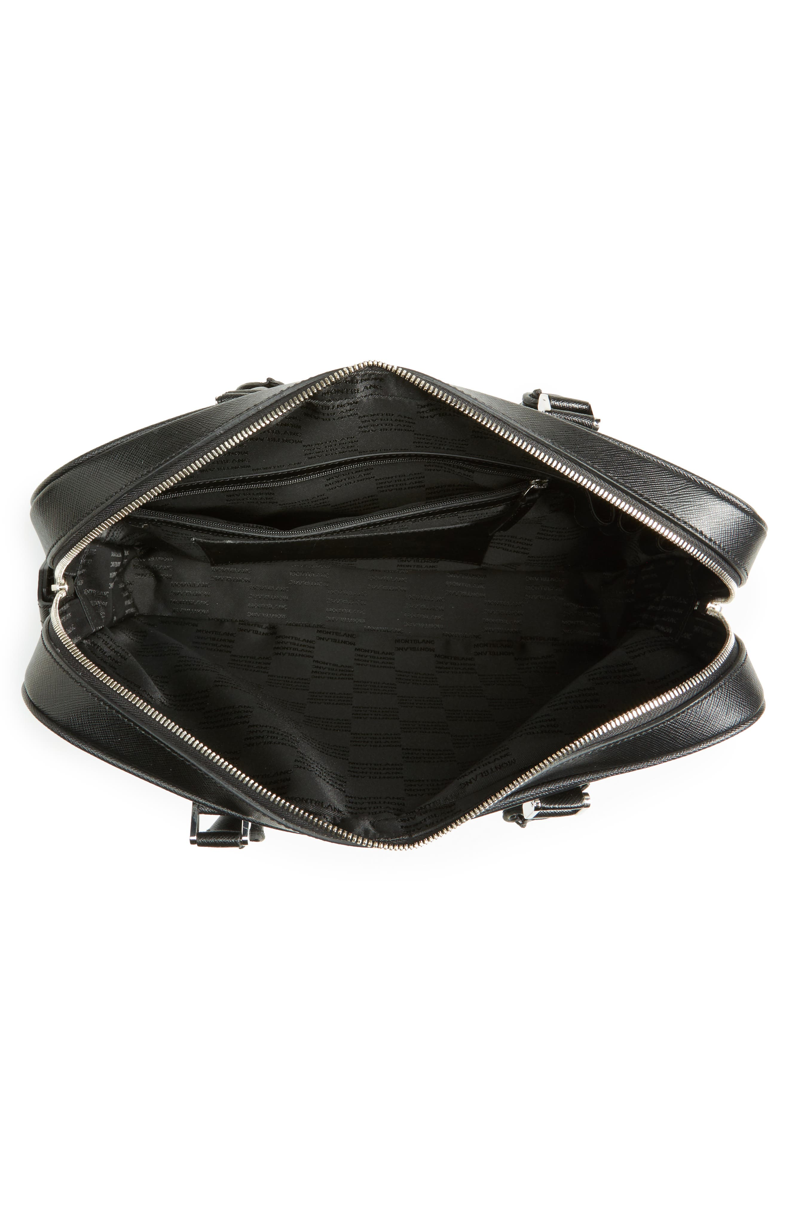 Sartorial Leather Briefcase,                             Alternate thumbnail 4, color,                             Black