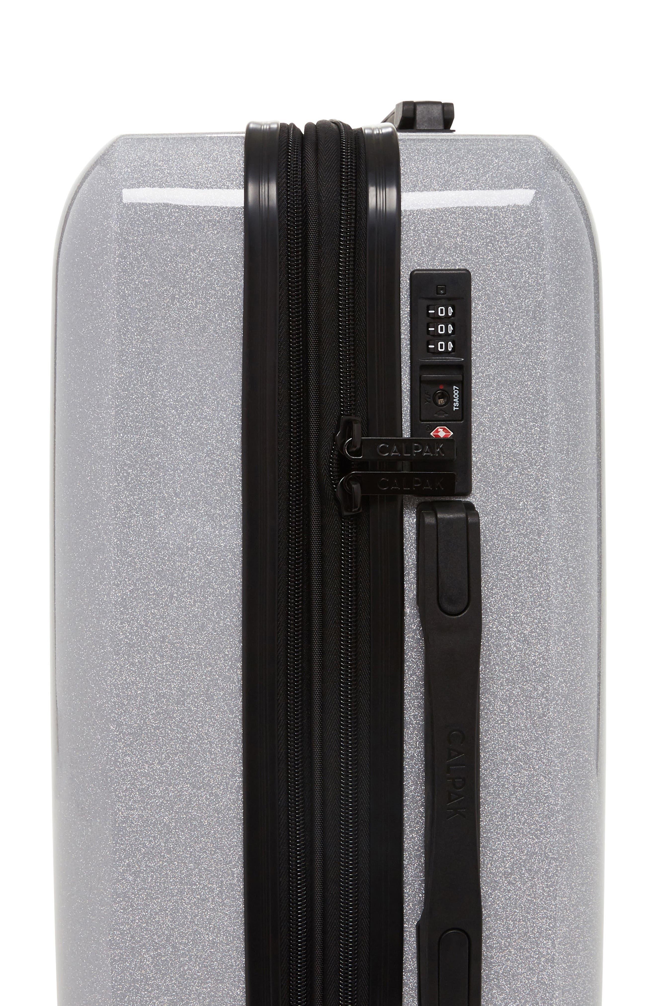 Medora Glitter 28-Inch & 20-Inch Hardshell Spinner Suitcase & Carry-On Set,                             Alternate thumbnail 5, color,                             Silver Stardust