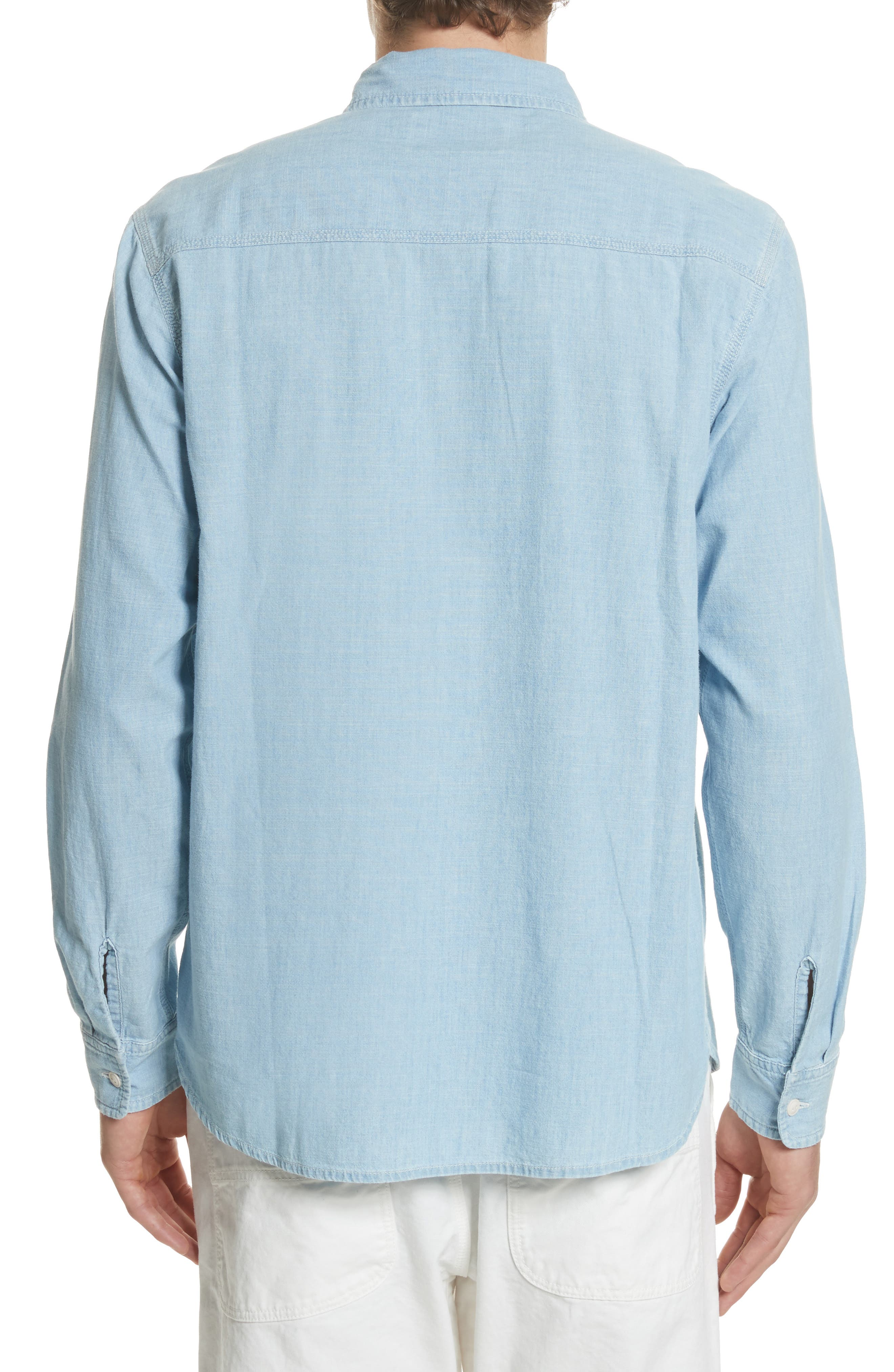 Clink Chambray Shirt,                             Alternate thumbnail 2, color,                             Blue Stone Washed