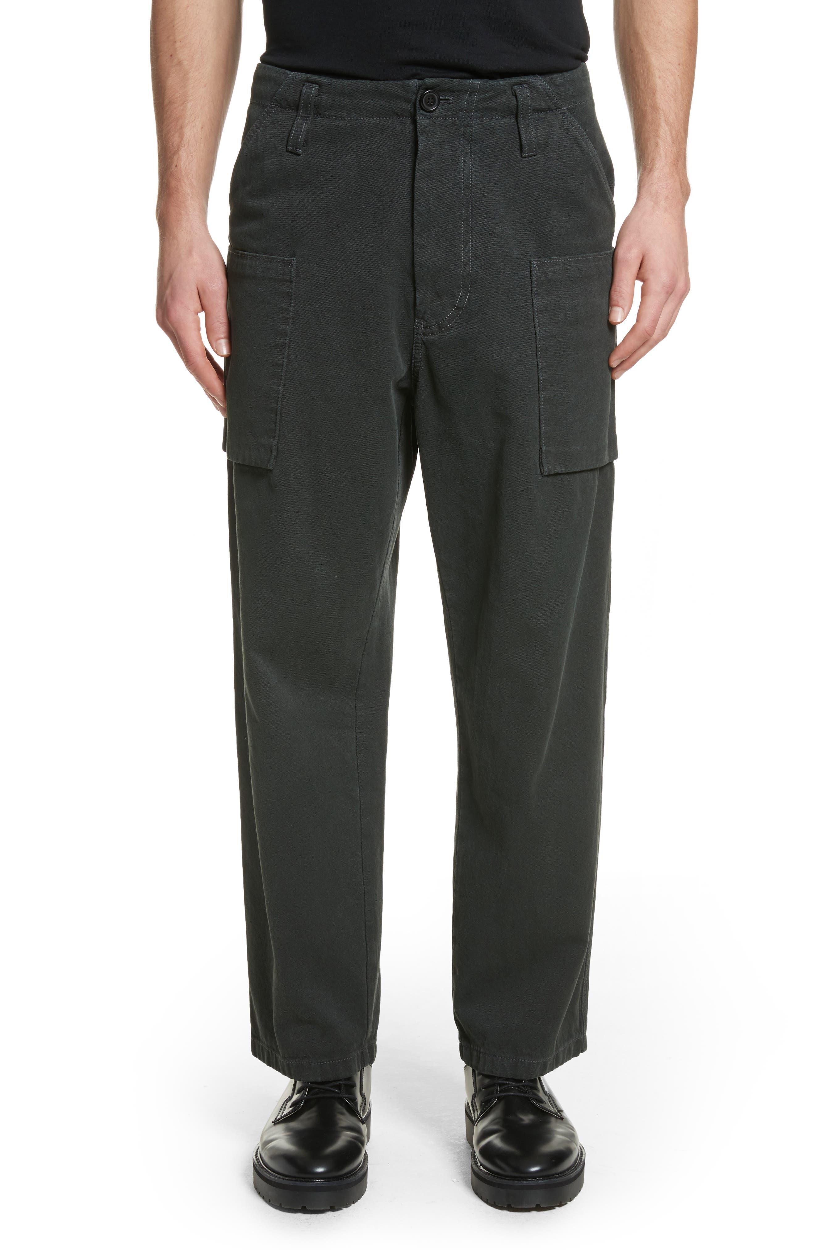 Anselm Wide Leg Patch Cargo Pants,                         Main,                         color, Coal Black