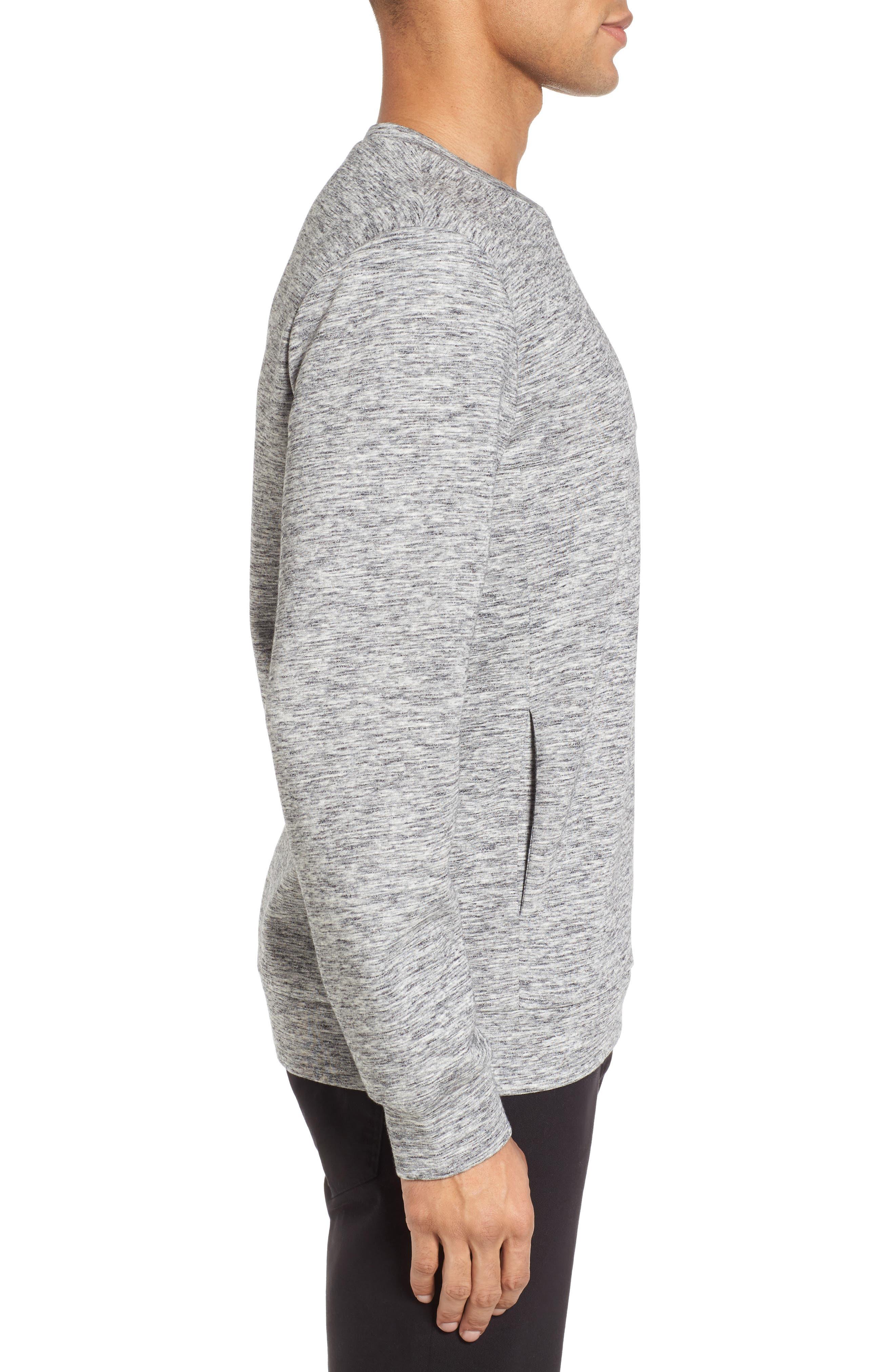 Space Dyed Sweatshirt,                             Alternate thumbnail 3, color,                             Grey Sleet Jaspe