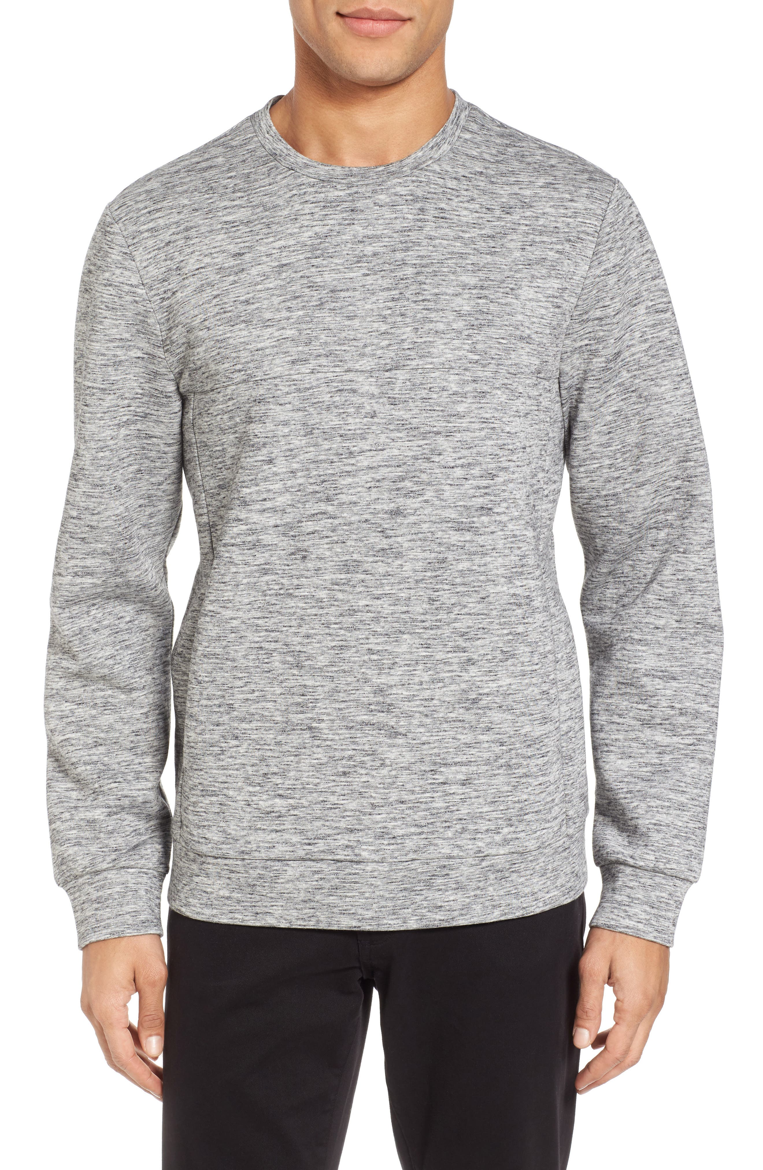 Space Dyed Sweatshirt,                             Main thumbnail 1, color,                             Grey Sleet Jaspe