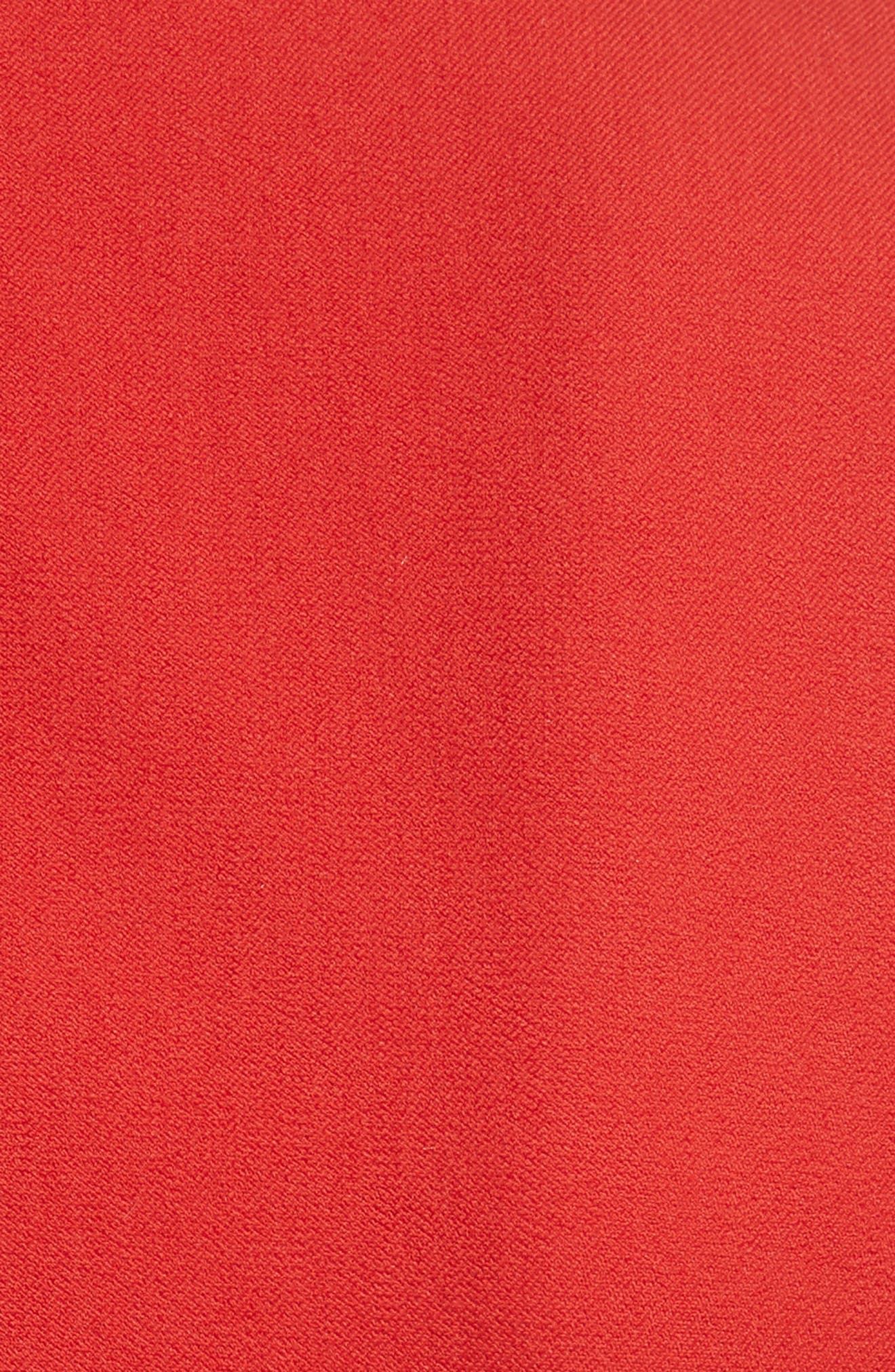 Scallop Hem Dress,                             Alternate thumbnail 5, color,                             Red Clay