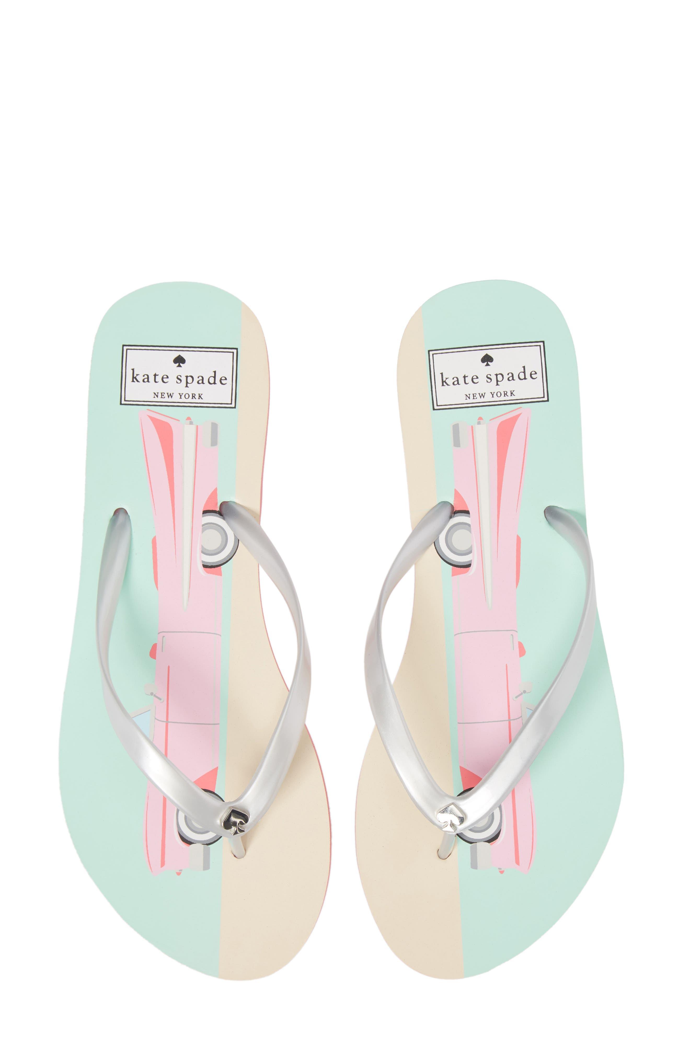 'nassau' flip flop,                         Main,                         color, Silver