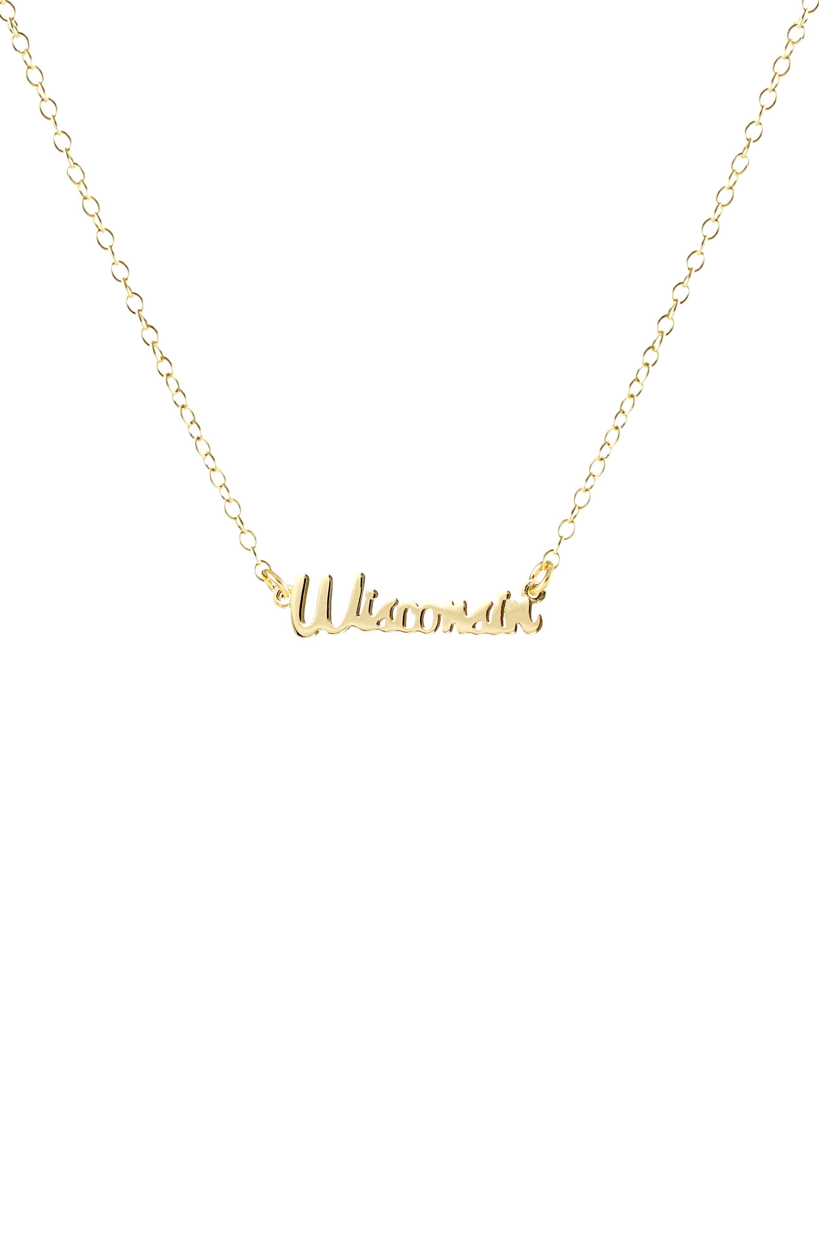 Kris Nations State Script Charm Necklace