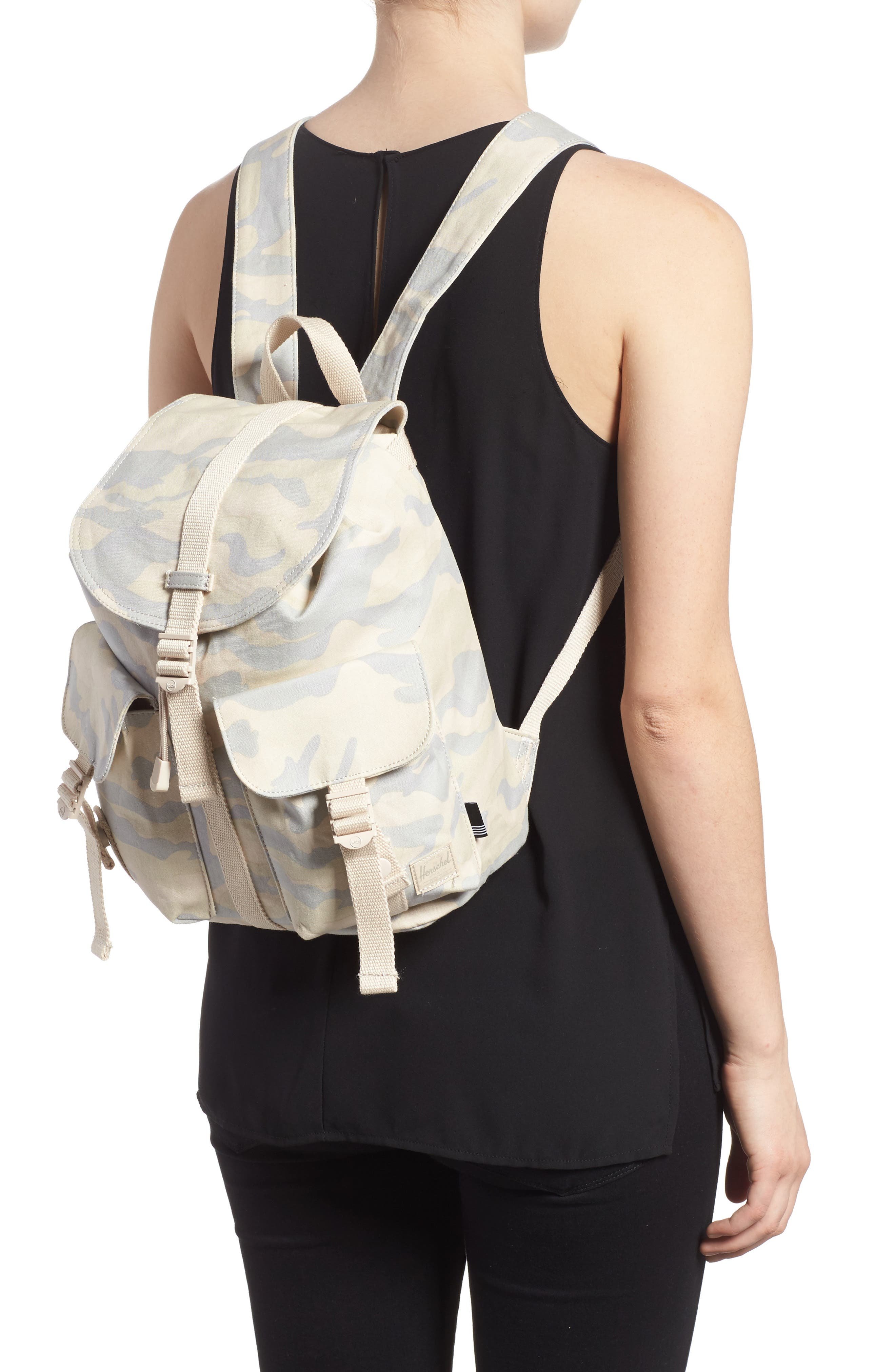 X-Small Dawson Camo Canvas Backpack,                             Alternate thumbnail 2, color,                             Washed Canvas Camo