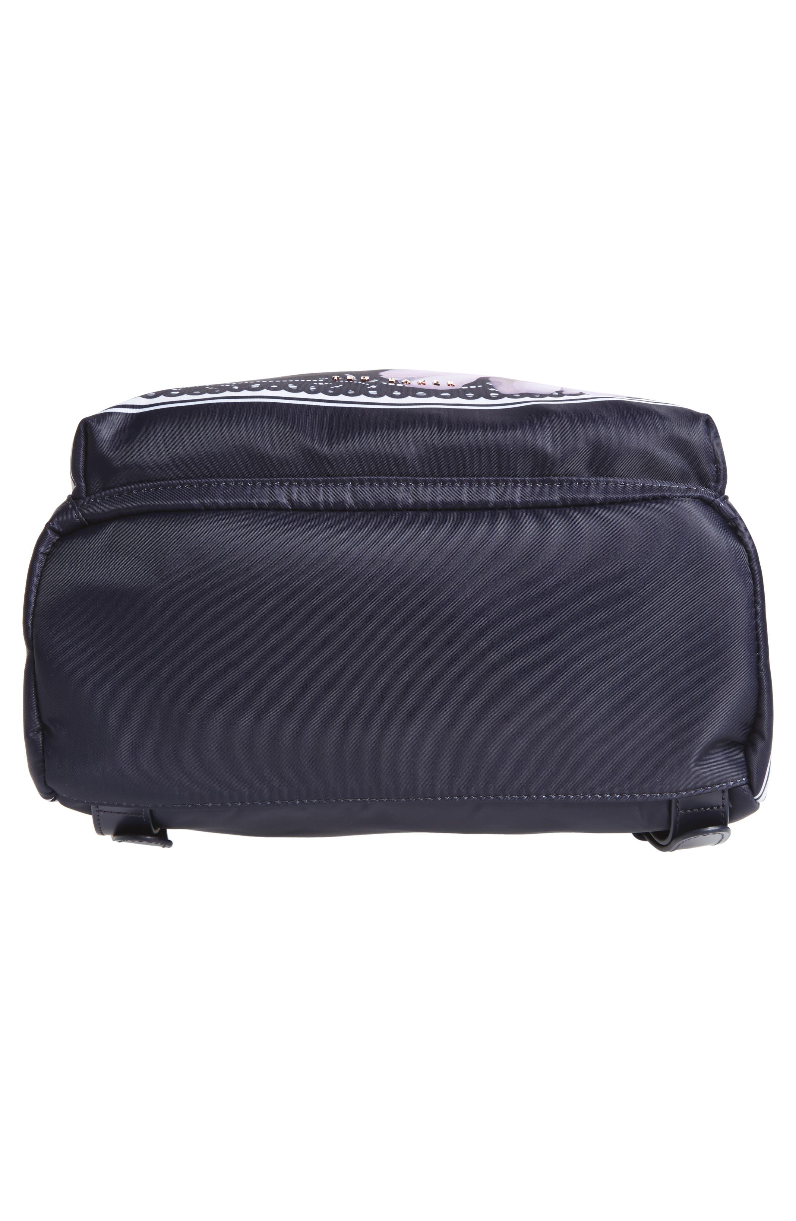 Kayleey Gardenia Backpack,                             Alternate thumbnail 6, color,                             Dark Blue