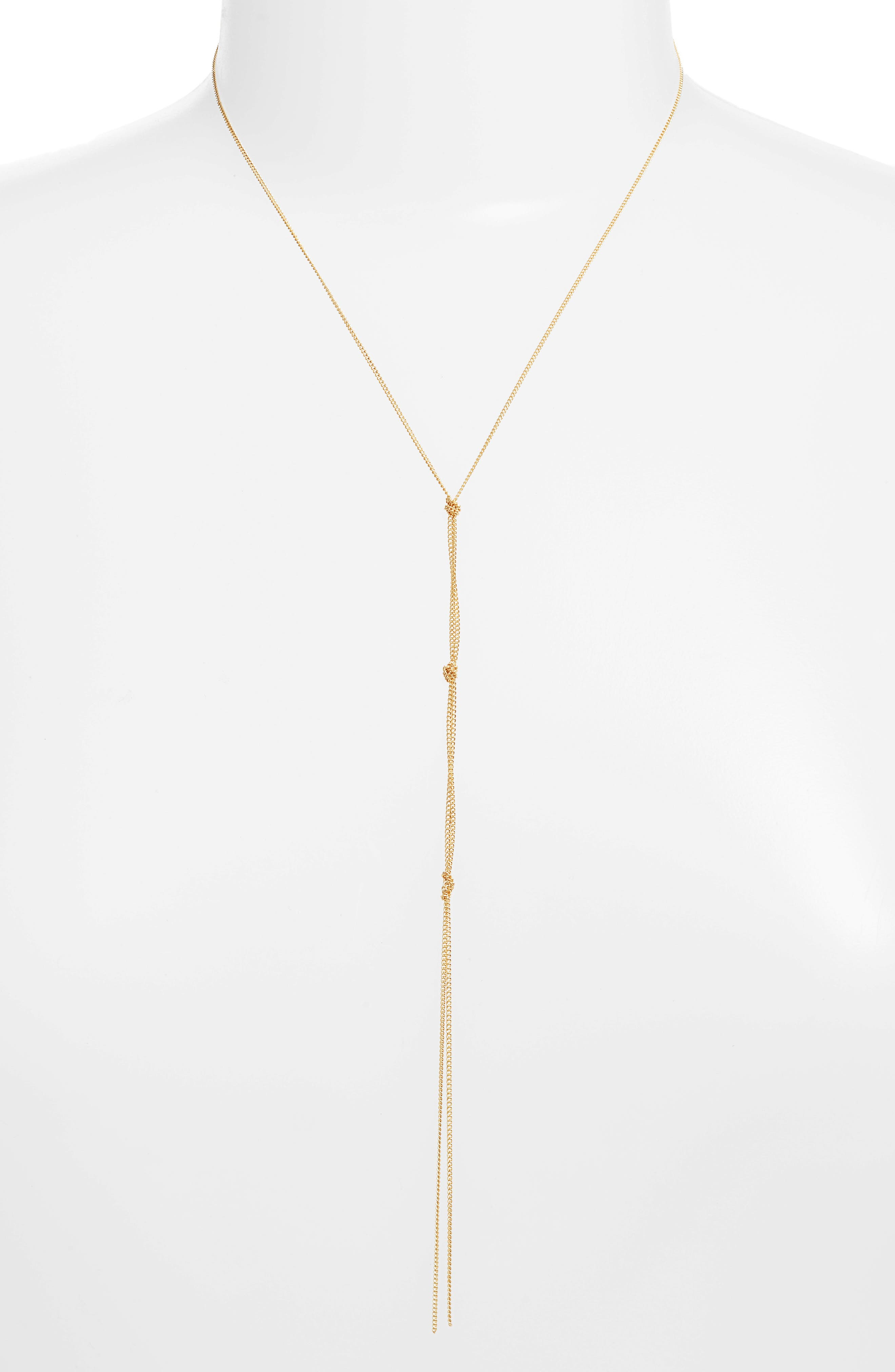 Ramona Y-Necklace,                             Main thumbnail 1, color,                             Gold