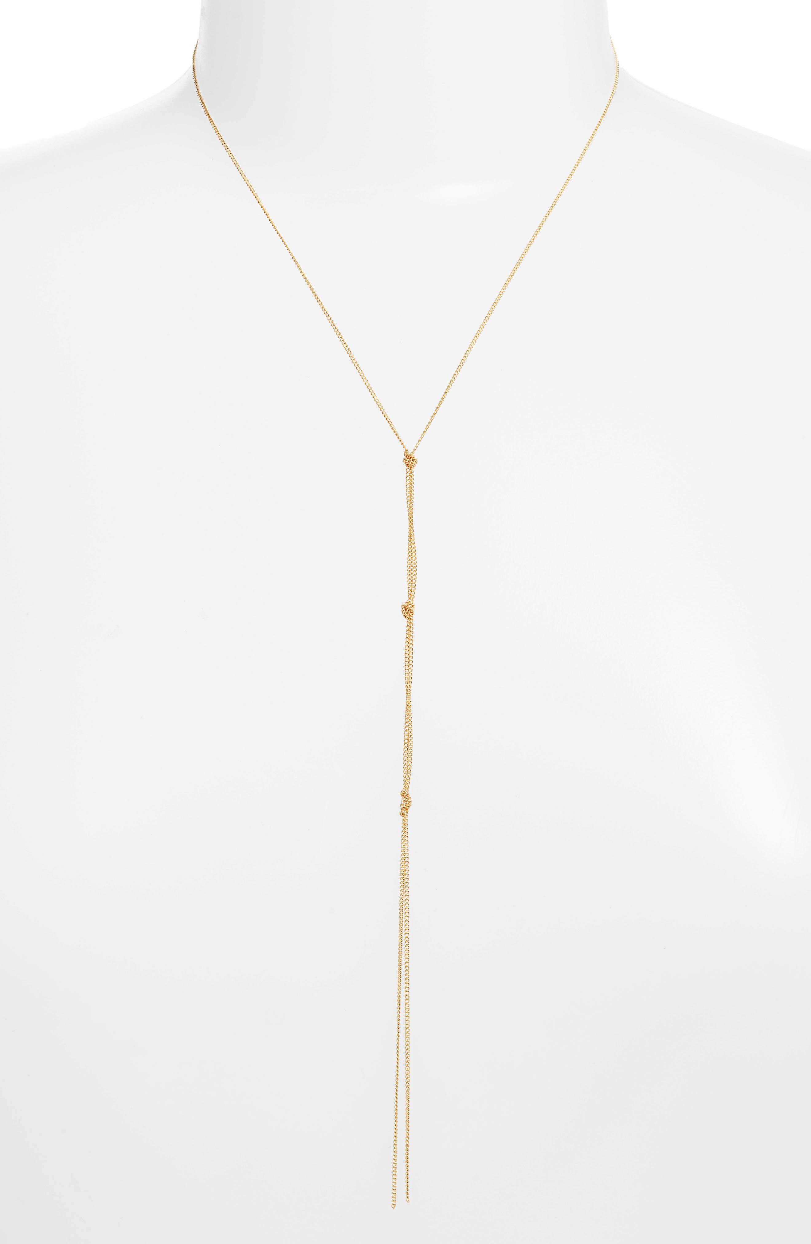 Ramona Y-Necklace,                         Main,                         color, Gold