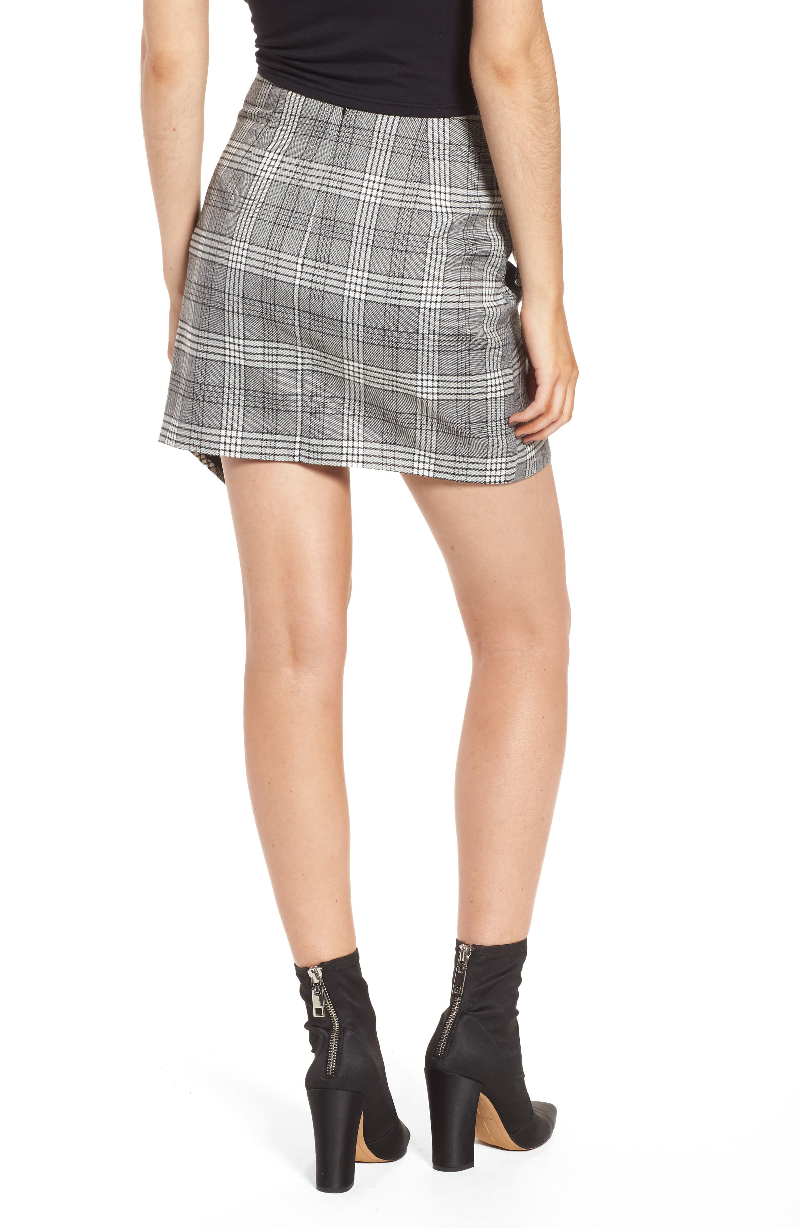 Alternate Image 3  - Lovers + Friends Julie Faux Wrap Plaid Skirt