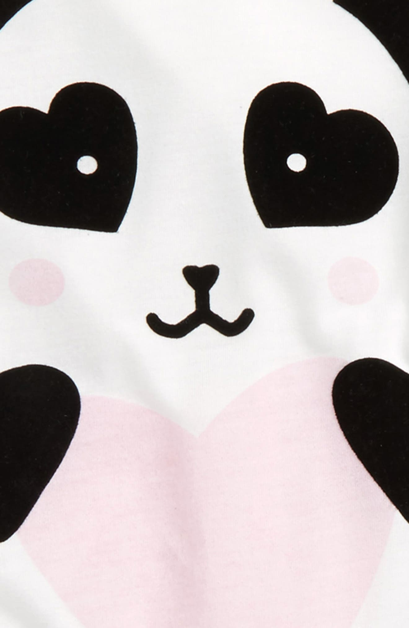 Alternate Image 2  - PJ Salvage Panda Monium Two-Piece Pajamas (Big Girls)
