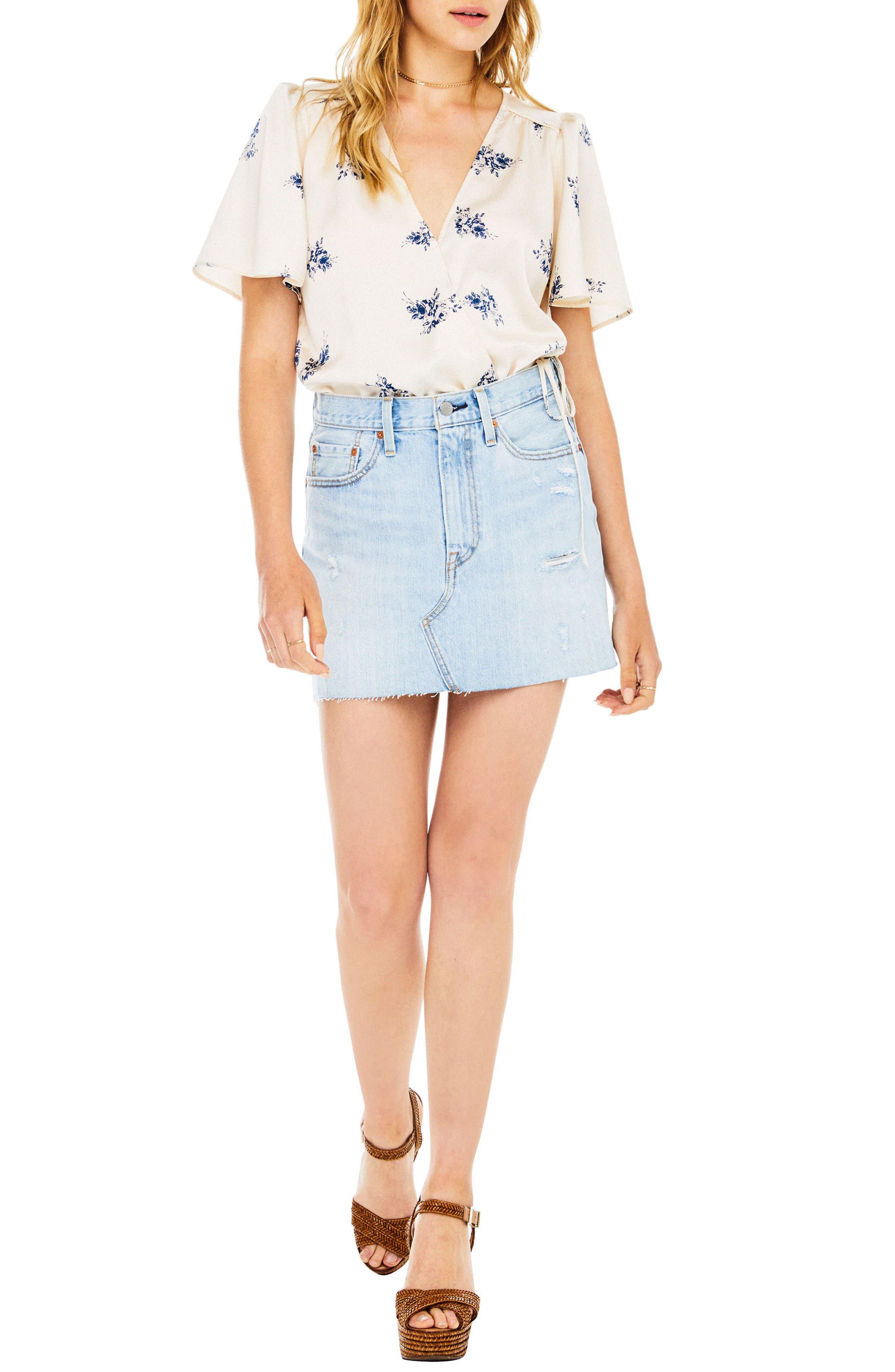 Hadley Bodysuit,                         Main,                         color, Cream Satin Floral