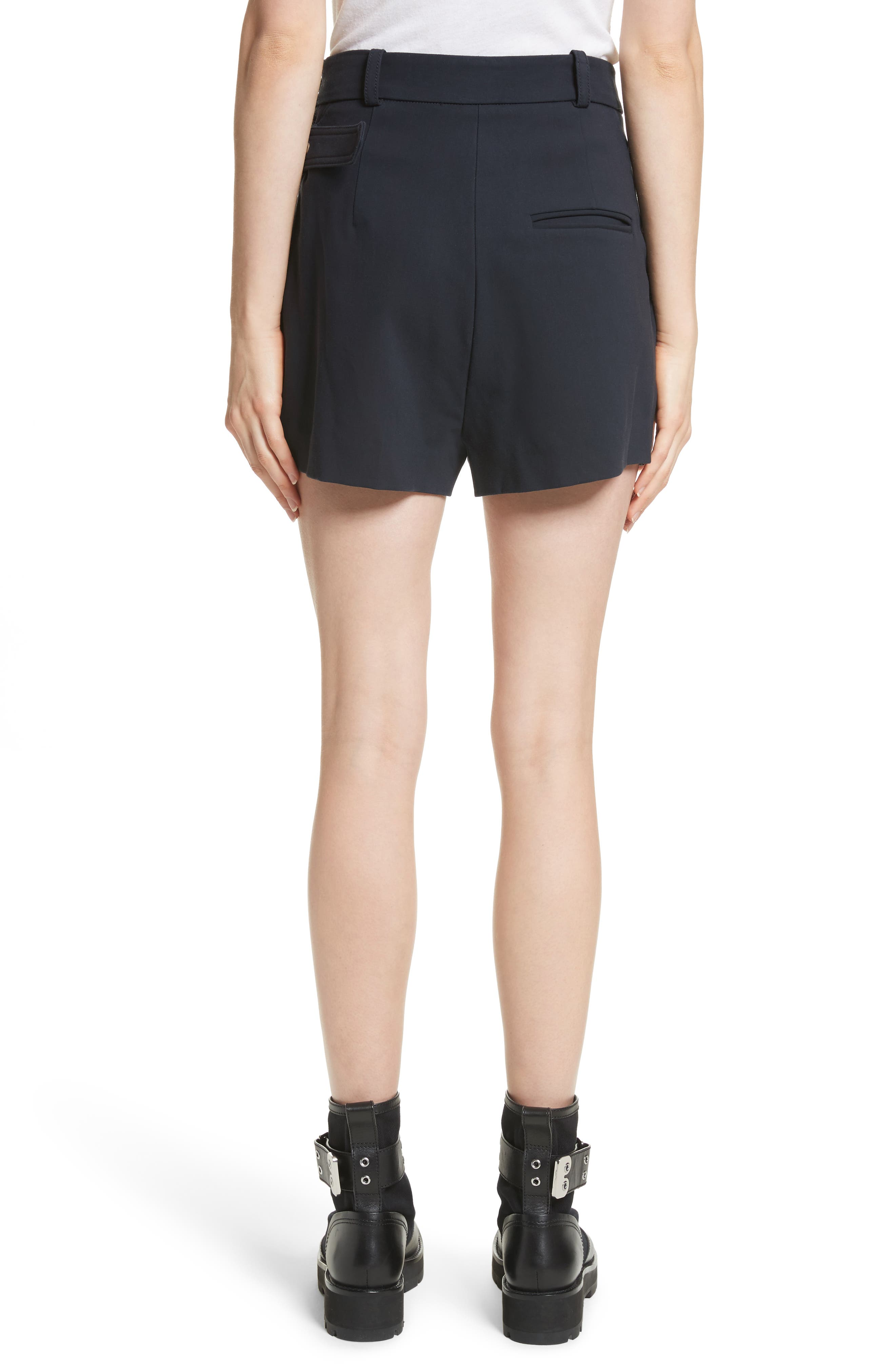 Ruffle Apron Shorts,                             Alternate thumbnail 2, color,                             Midnight