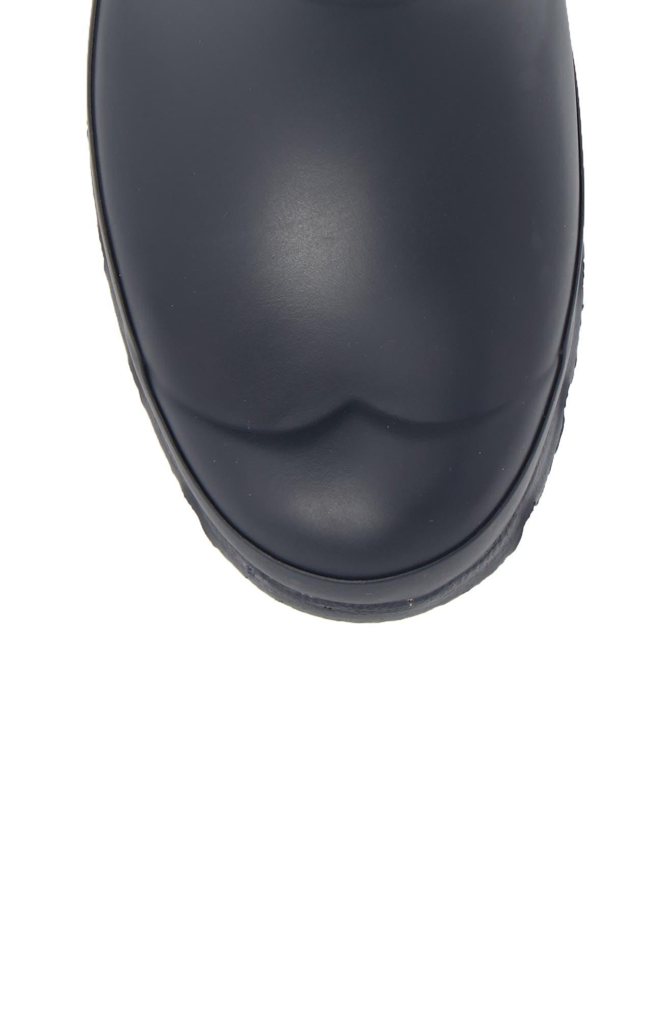 Original Garden Stripe Short Boot,                             Alternate thumbnail 5, color,                             Navy/ White