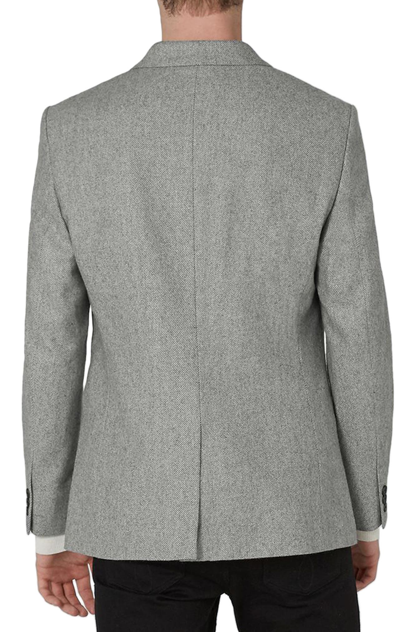 Alternate Image 2  - Topman Slim Fit Smart Blazer