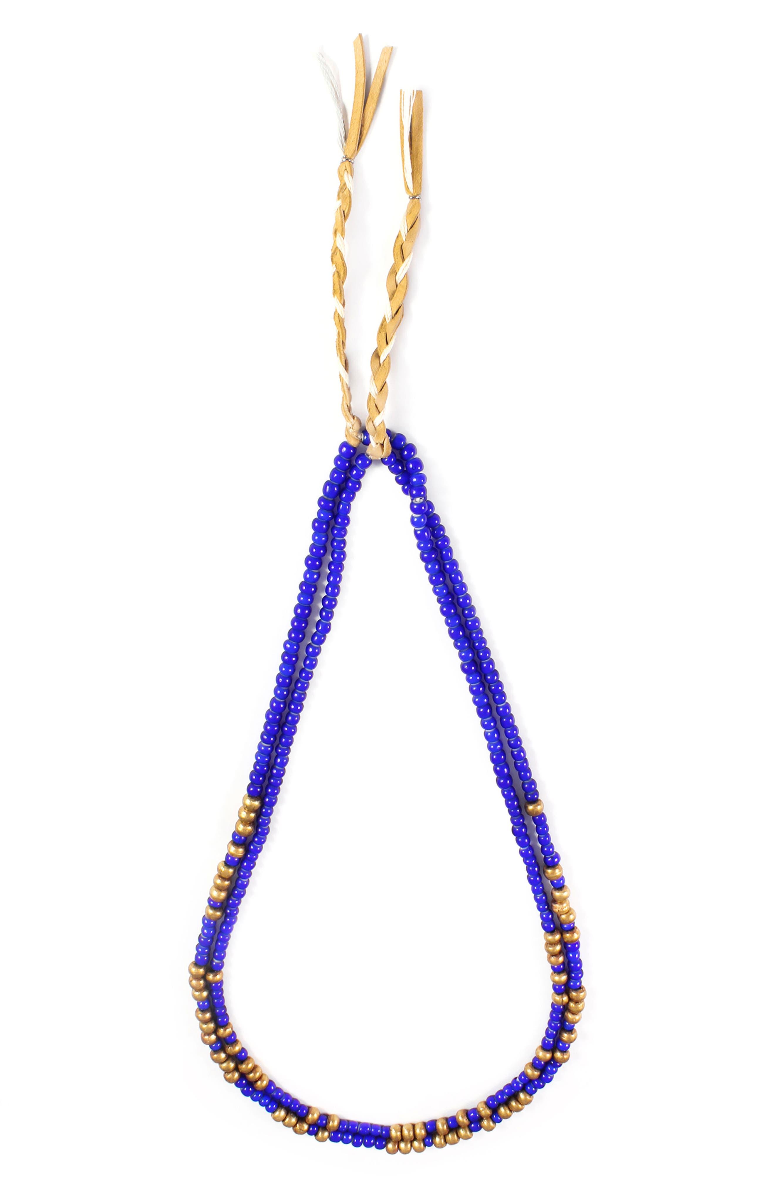 Divide & Conquer Morse Necklace,                         Main,                         color, Blue