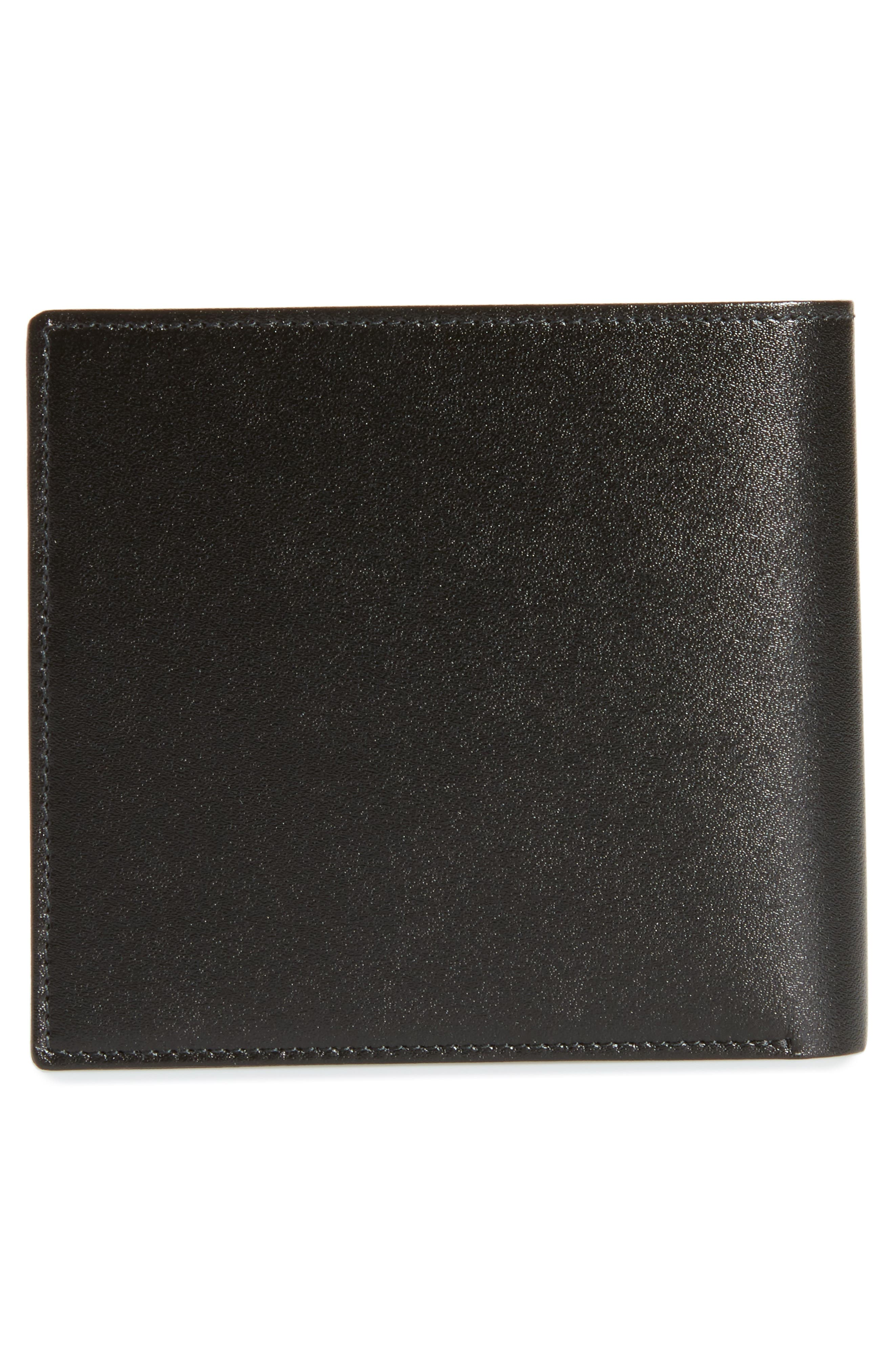 Meisterstück Leather Wallet,                             Alternate thumbnail 3, color,                             Black