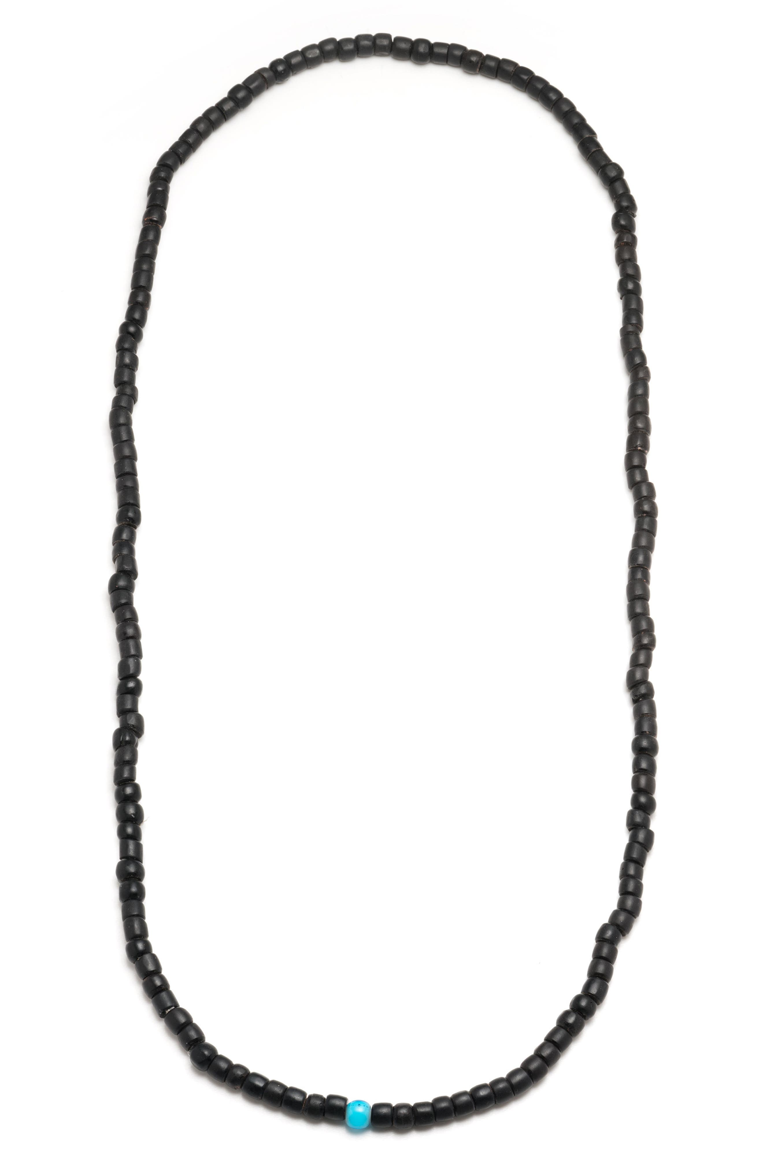 Beaded Necklace,                         Main,                         color, Black