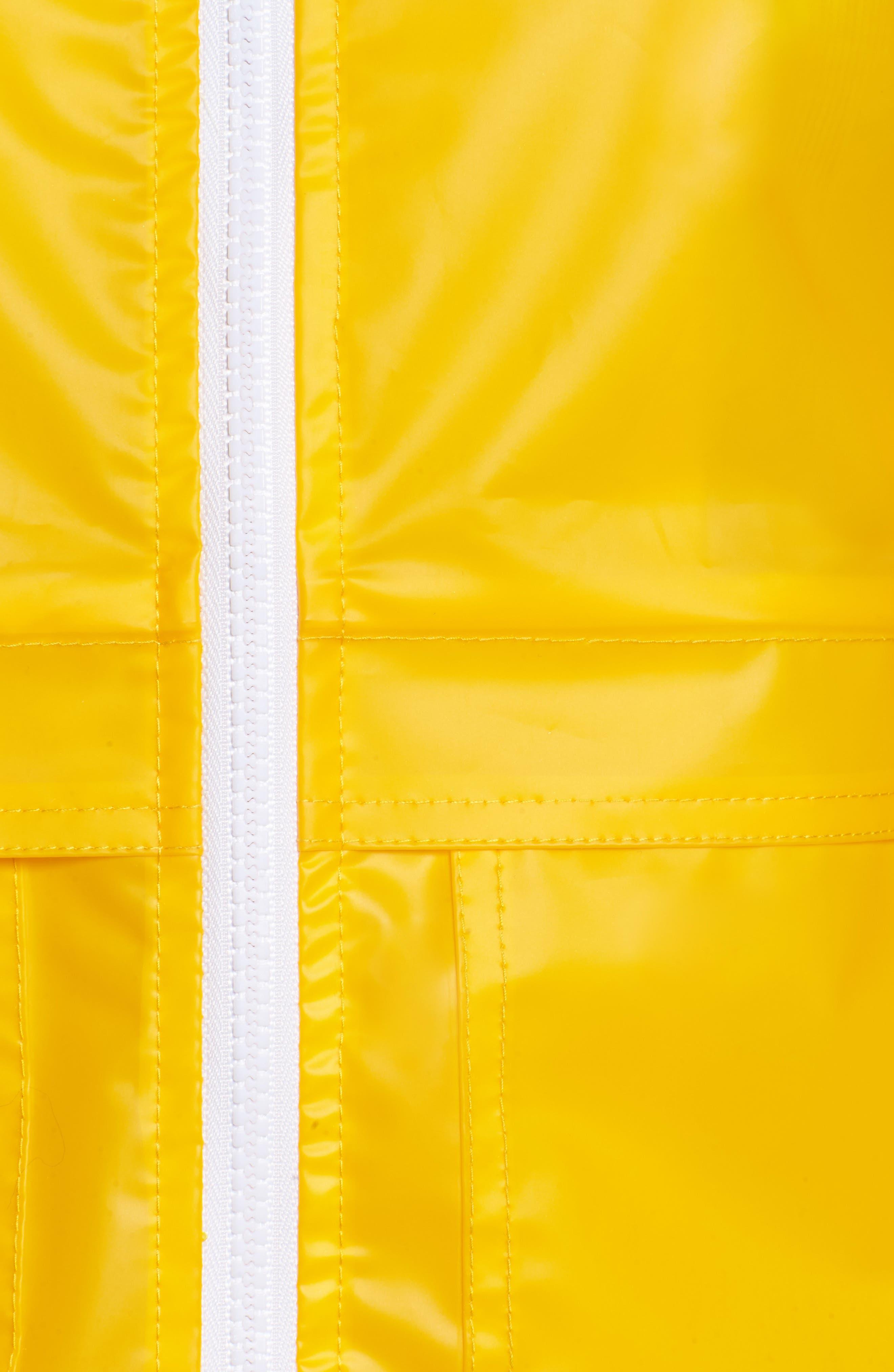 Water Resistant Raincoat,                             Alternate thumbnail 6, color,                             Banana
