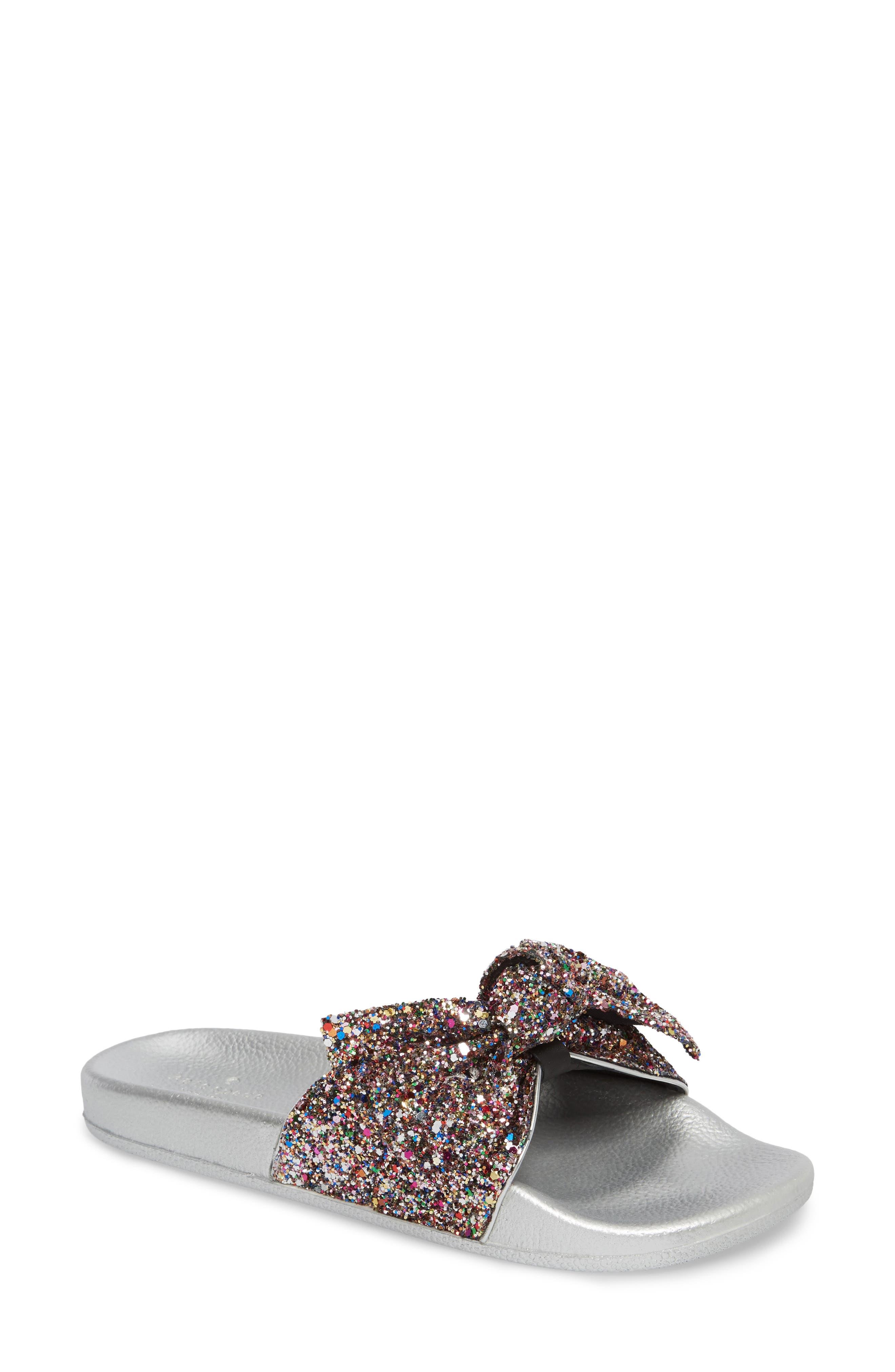 shellie slide sandal,                             Main thumbnail 1, color,                             Multi Glitter