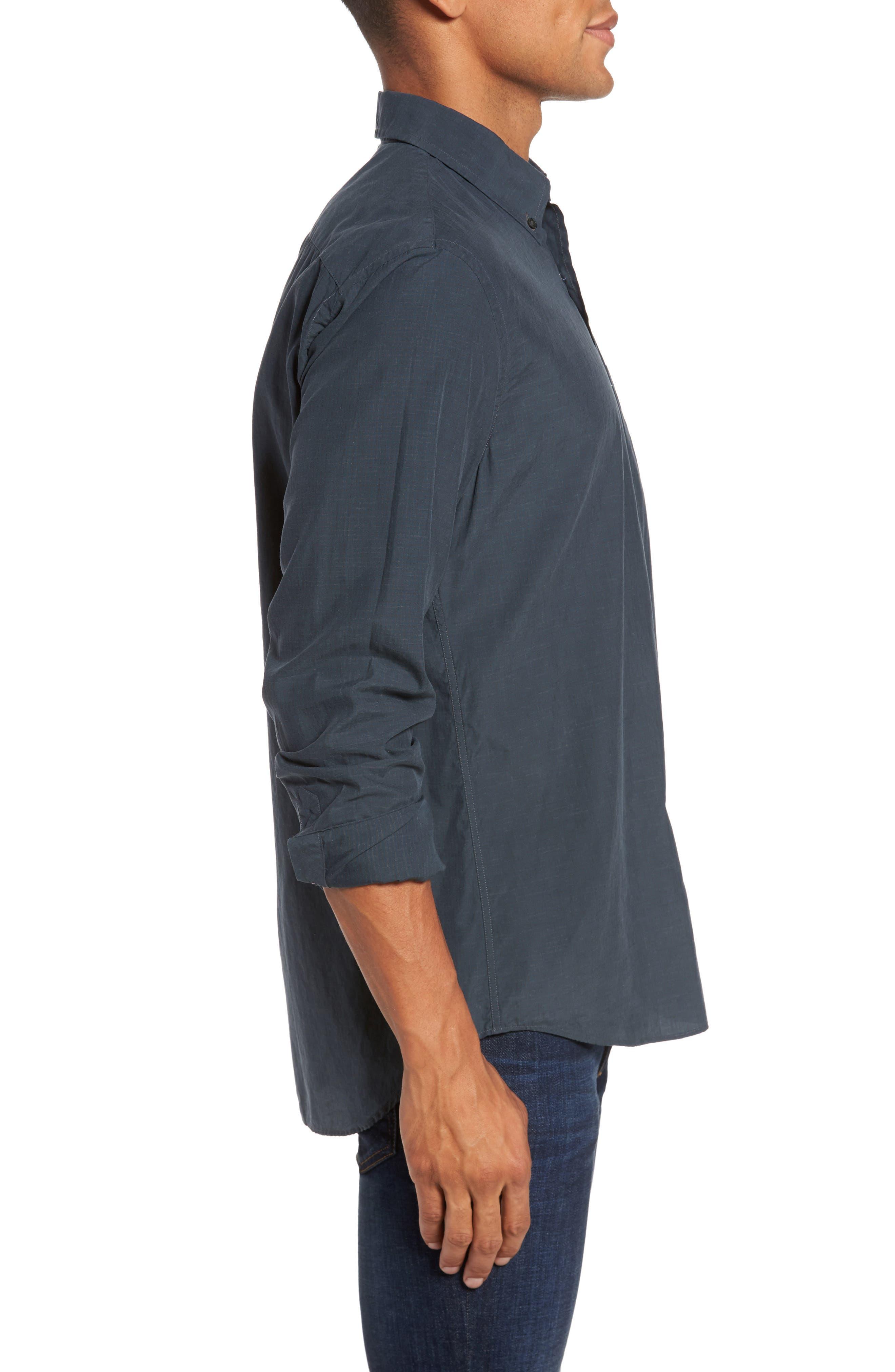 Rosedale Slim Fit Check Sport Shirt,                             Alternate thumbnail 3, color,                             Dark Green