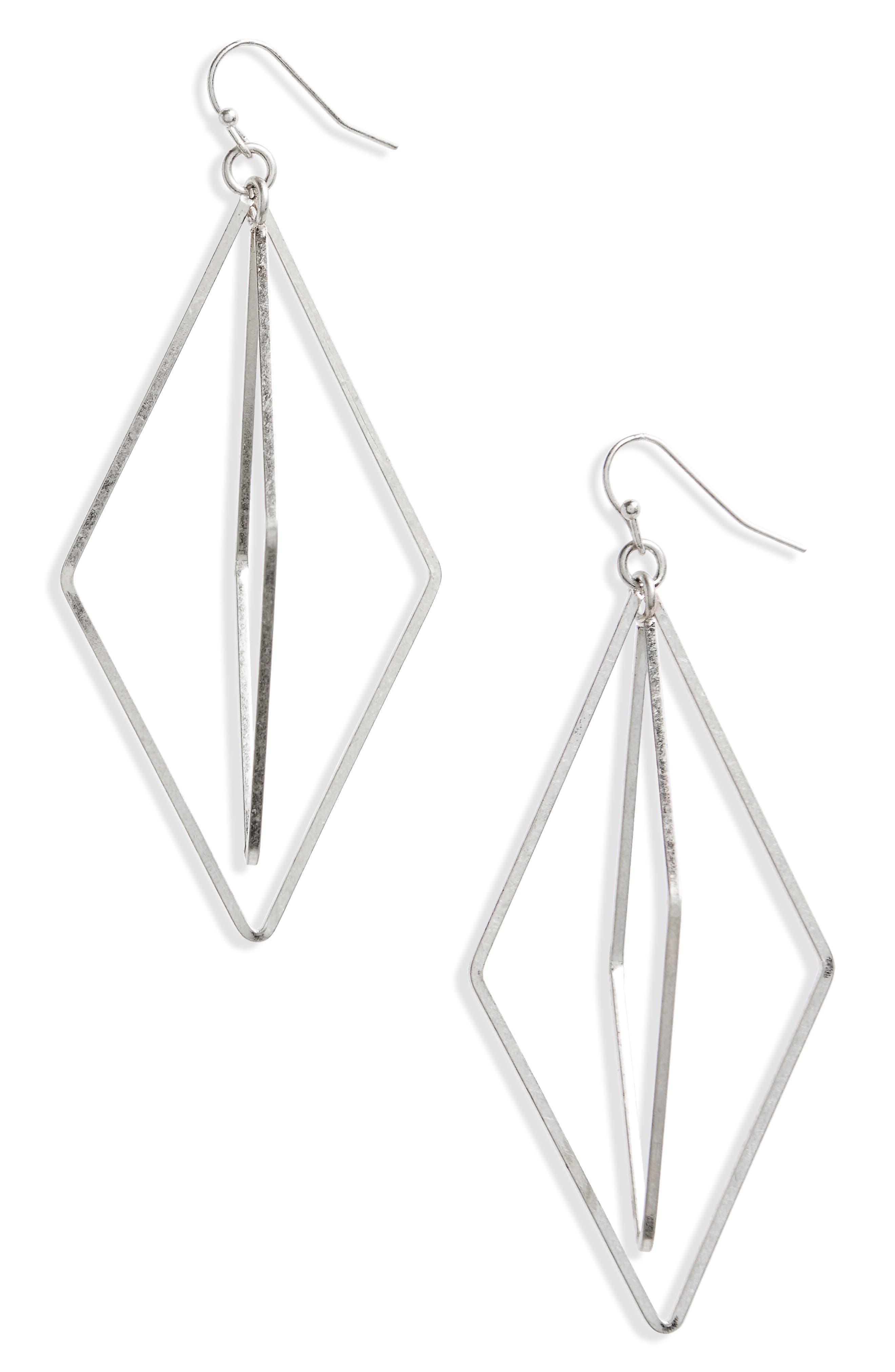 Orbital Geo Earrings,                             Main thumbnail 1, color,                             Silver