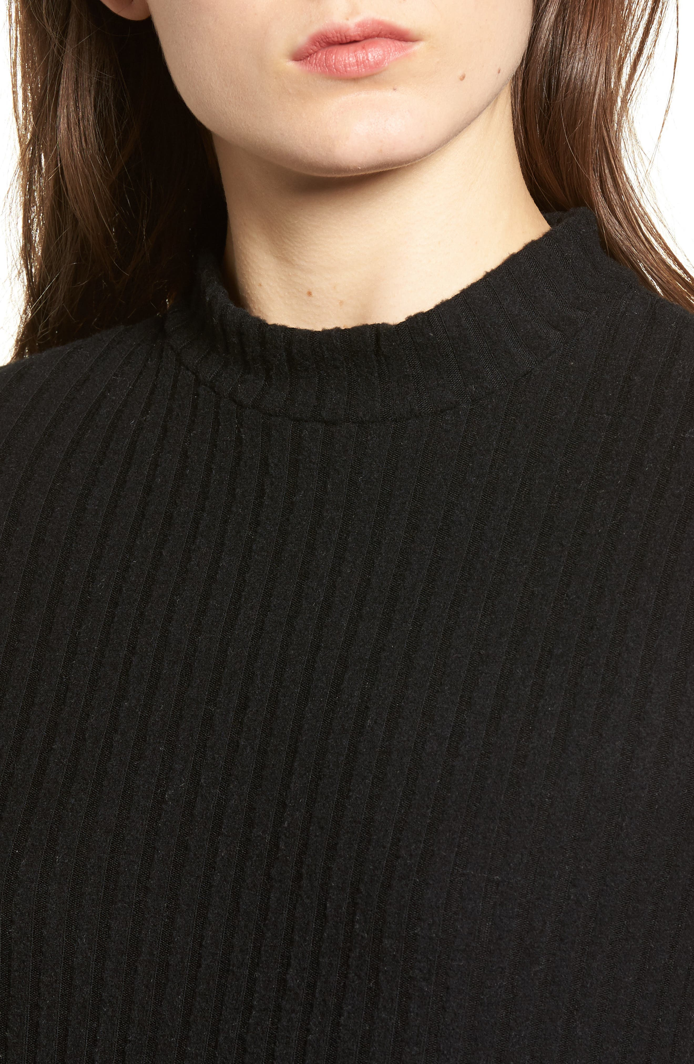 Alternate Image 4  - PST by Project Social T Mock Neck Ribbed Top