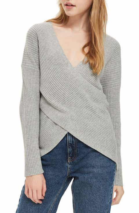 Topshop Wrap Front Sweater