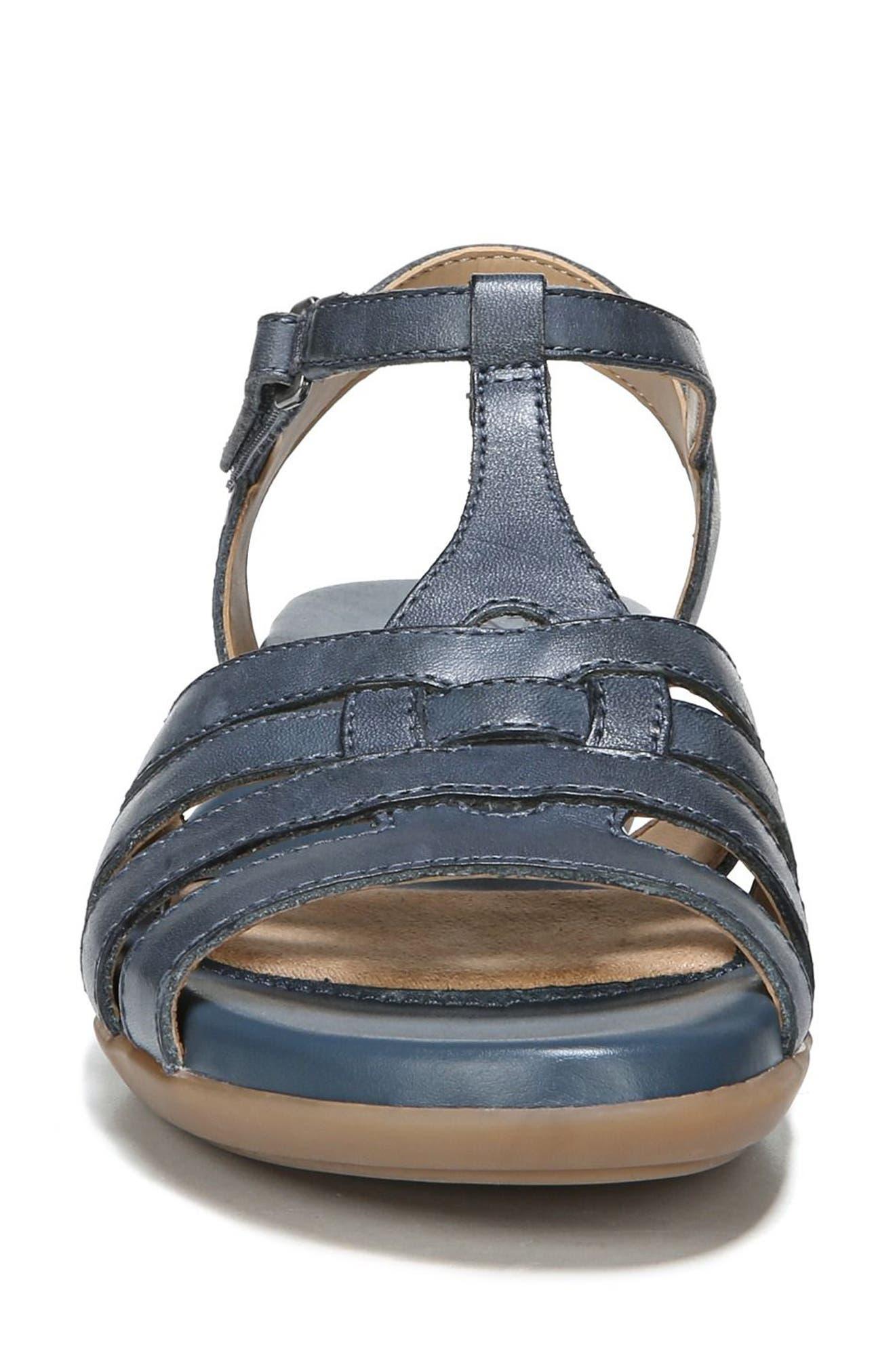 Nanci Sandal,                             Alternate thumbnail 4, color,                             Denim Leather