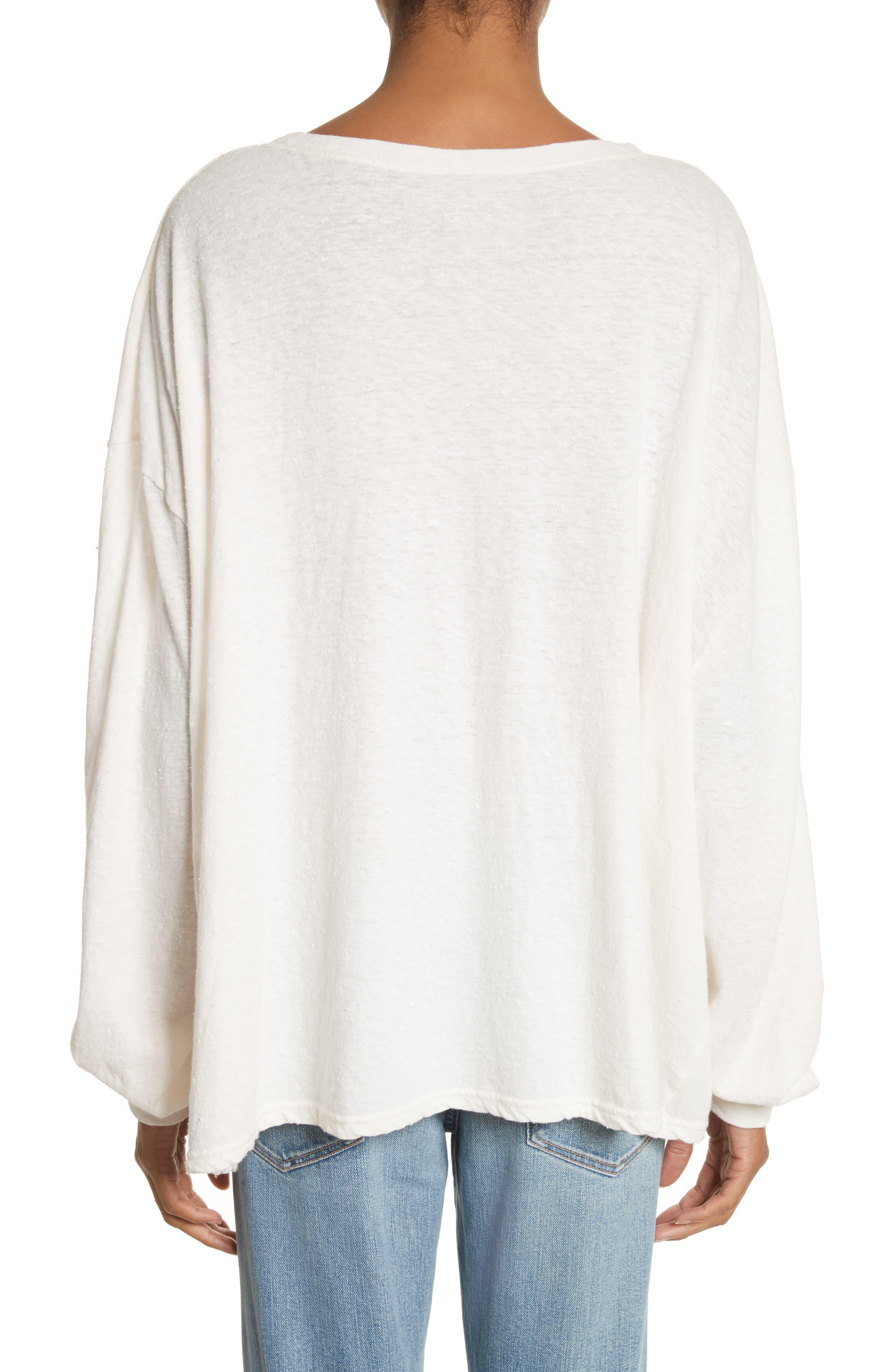 Solano Oversize Cotton Top,                             Alternate thumbnail 2, color,                             White